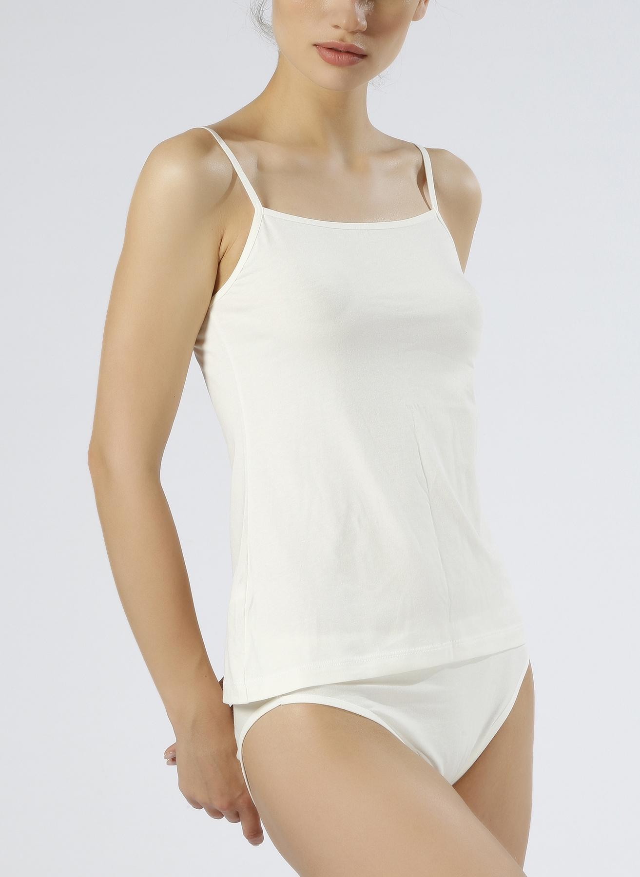 L Renksiz Magic Form Penye İp Askılı Ekru İç Giyim Atlet 5000001972001 Kadın