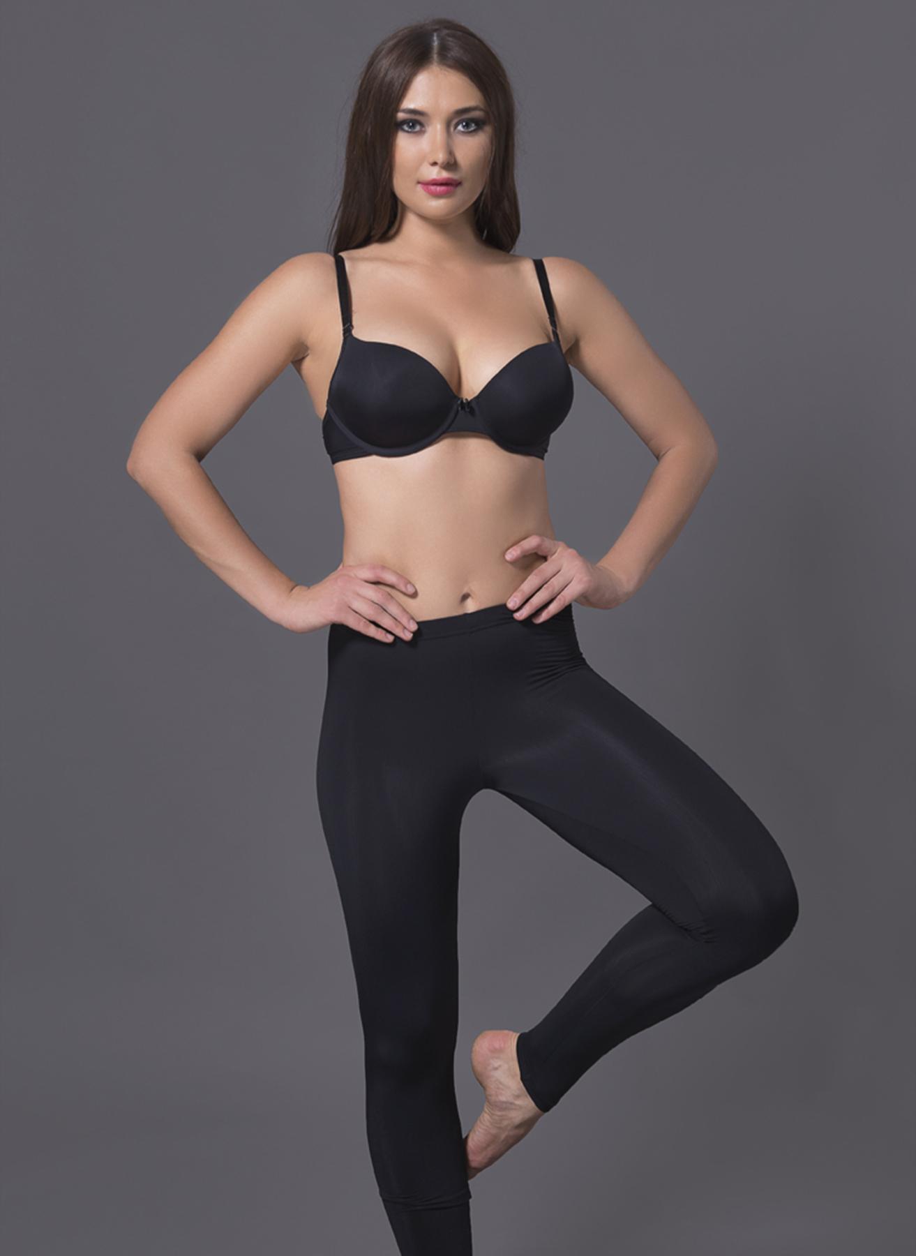 L Siyah Magic Form Düz Tayt 5000007071002 Kadın Spor Giyim