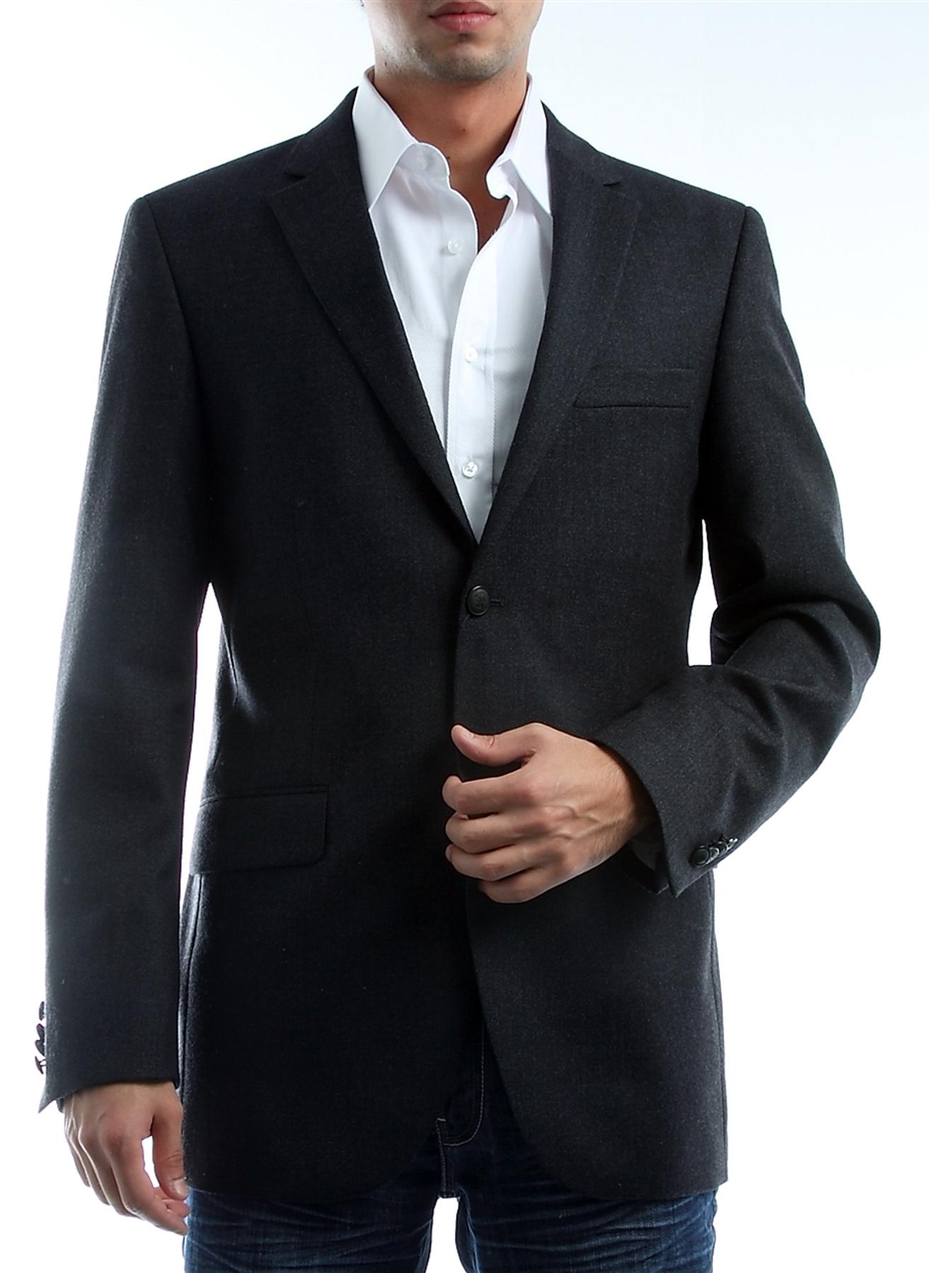 Antrasit Cotton Bar Ceket 52-6 5000013731004 Erkek Giyim & Yelek