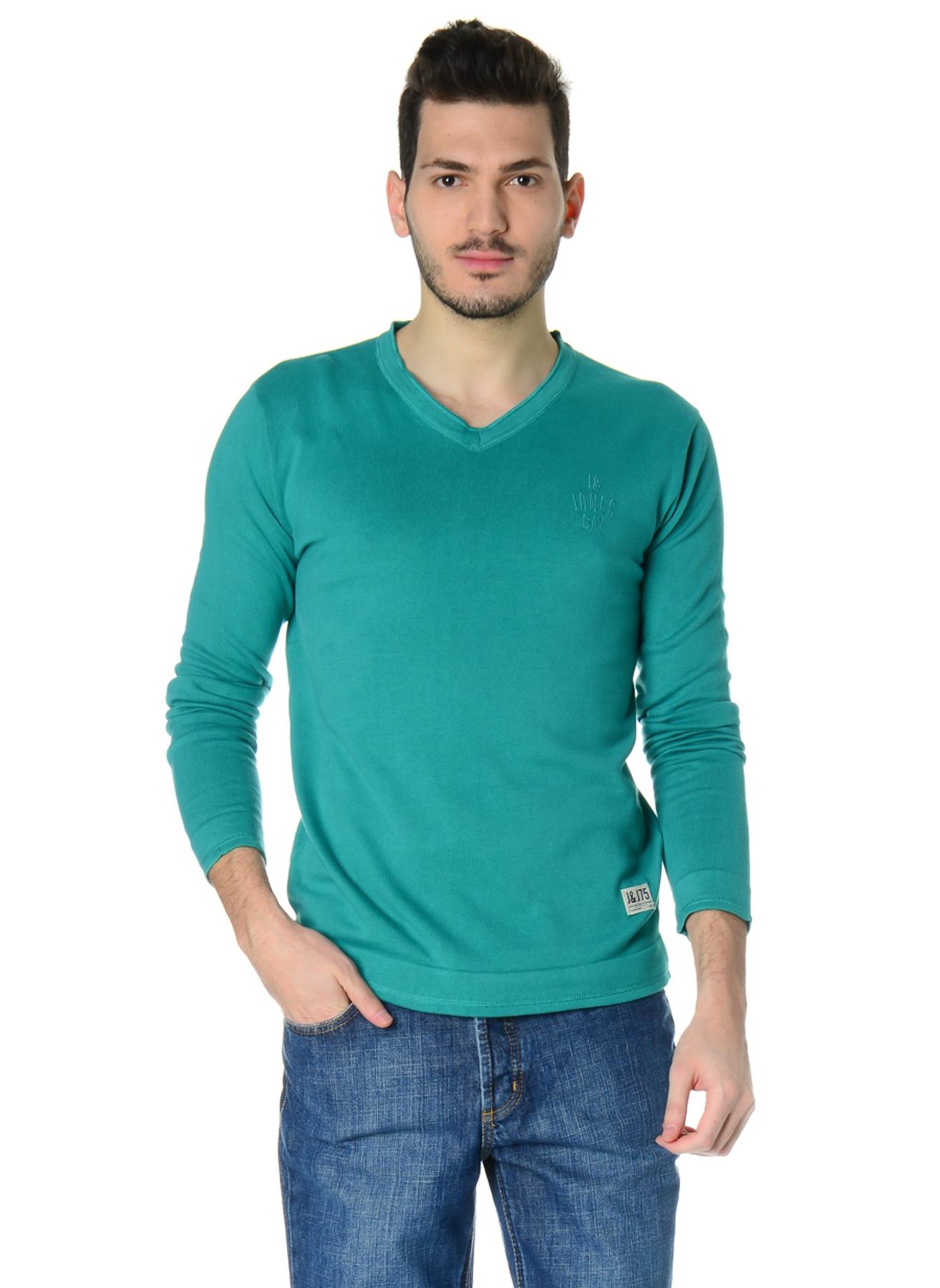 S Yeşil Jack & Jones Kazak 5000031544001 Erkek Giyim Hırka