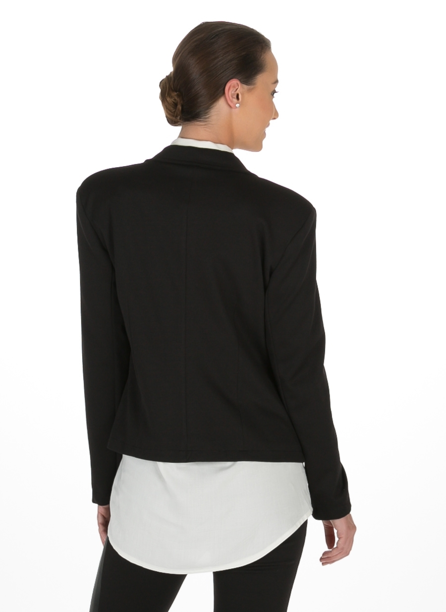 XL Siyah Asymmetry Ceket 5000036941004 Kadın Giyim & Yelek