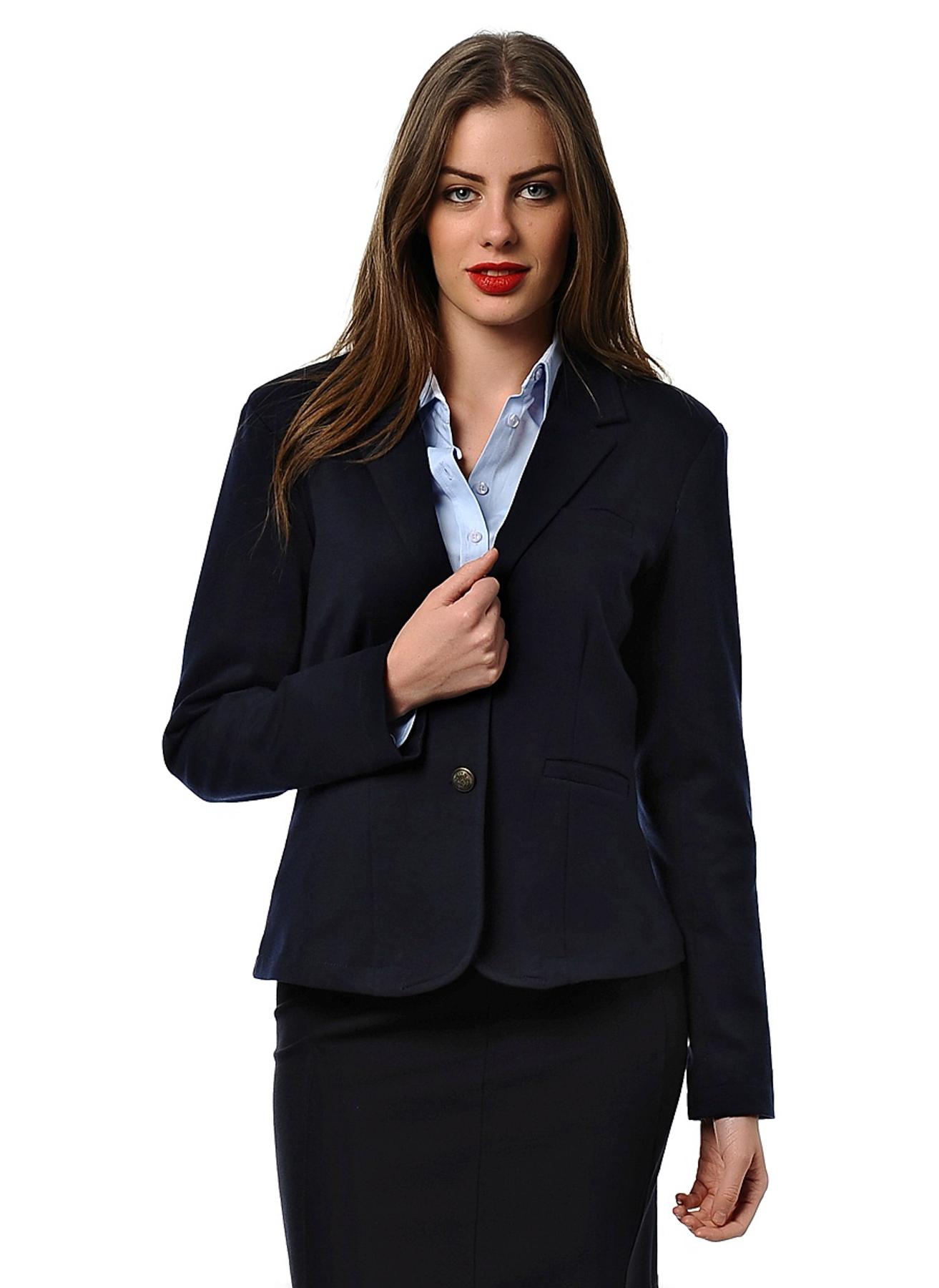 XL Koyu Lacivert Asymmetry Ceket 5000036943004 Kadın Giyim & Yelek