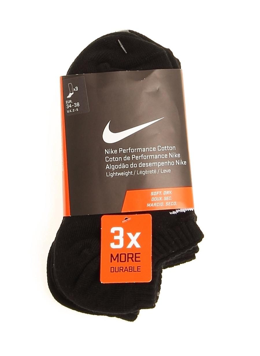 9-12 Yaş Erkek Siyah Nike 3'lü Spor Çorap 5000039519001 Aksesuarları