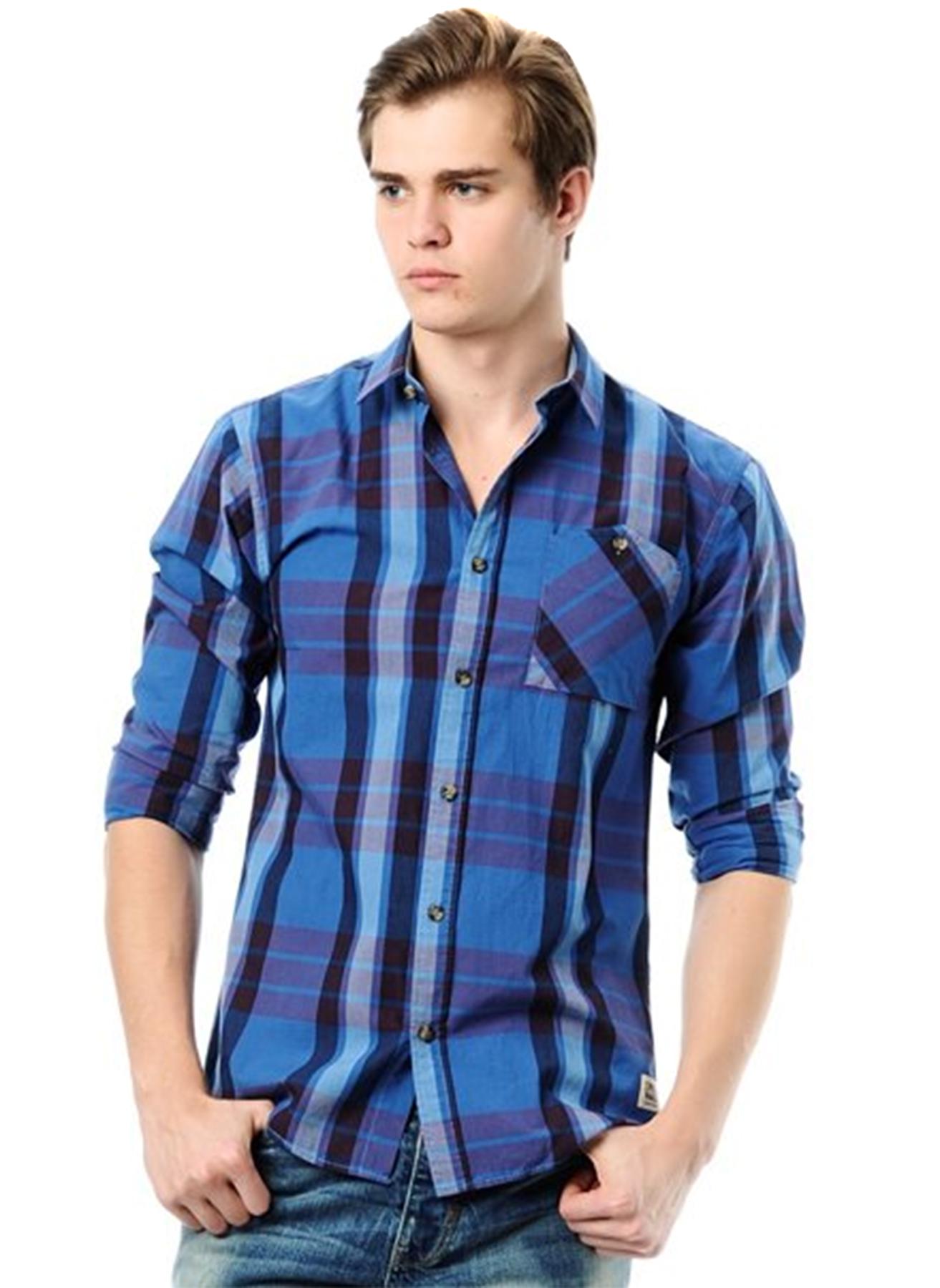 Jack & Jones Ekoseli Mavi Gömlek L 5000045783004 Ürün Resmi