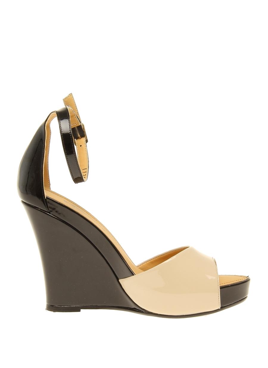 39 Koyu Bej Cotton Bar Dolgu Tpklu Ayakkabi 5000050102004 Ayakkabı & Çanta Kadın Topuk