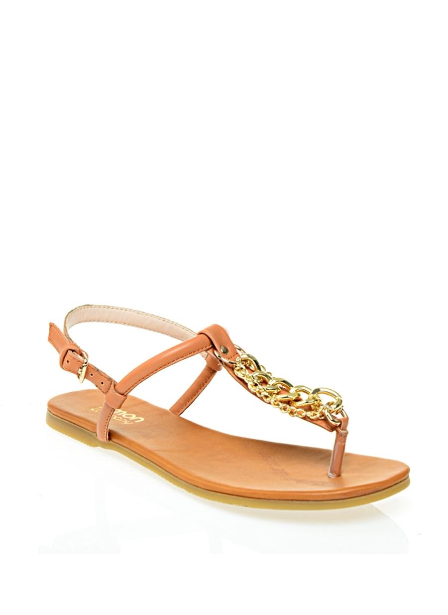 Limon Zincir Detaylı Parmak Arası Sandalet 37 5000068323004 Ürün Resmi