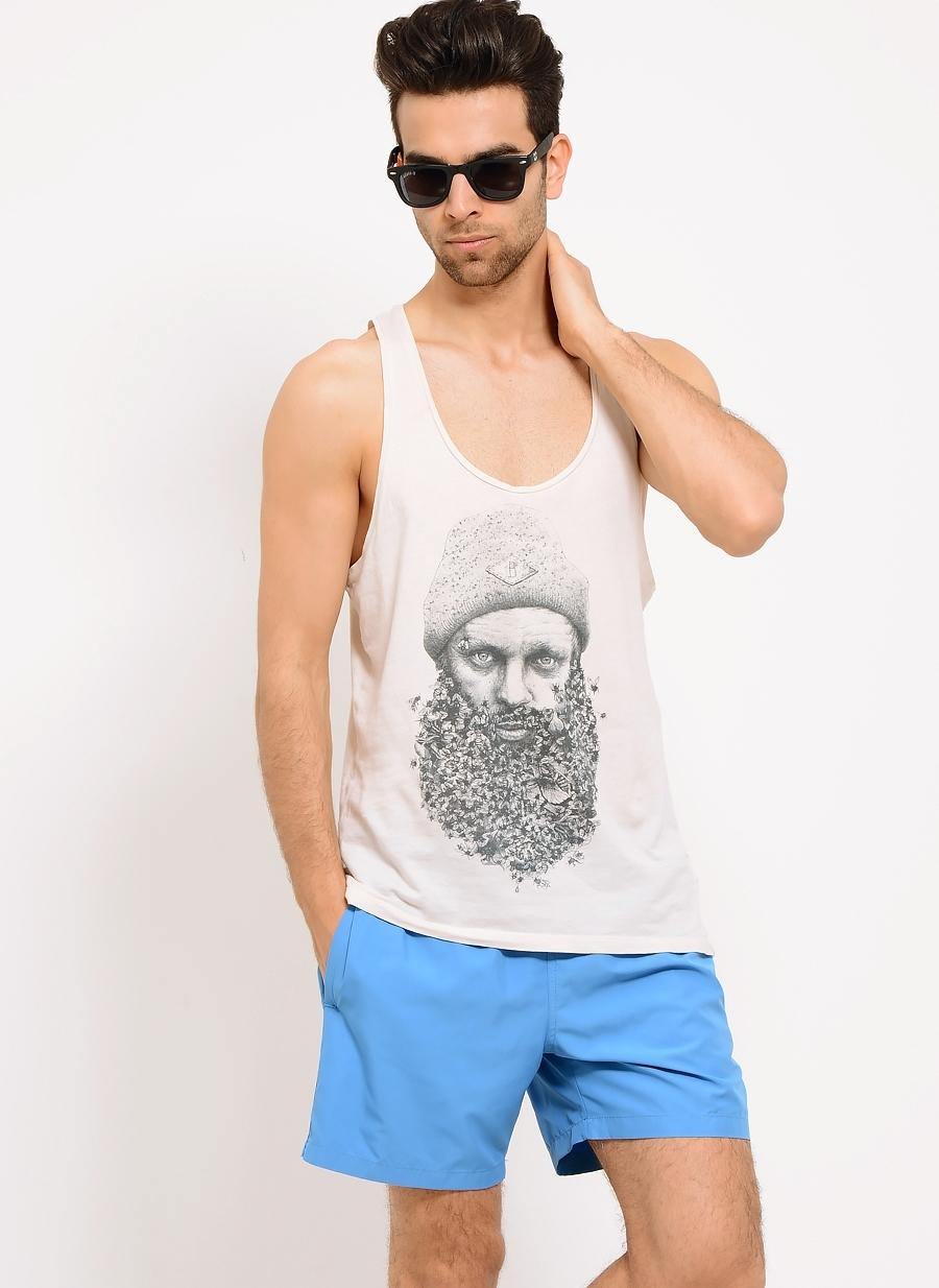 2XL Saks T-Box Şort Mayo 5000076159001 Erkek Plaj Giyim