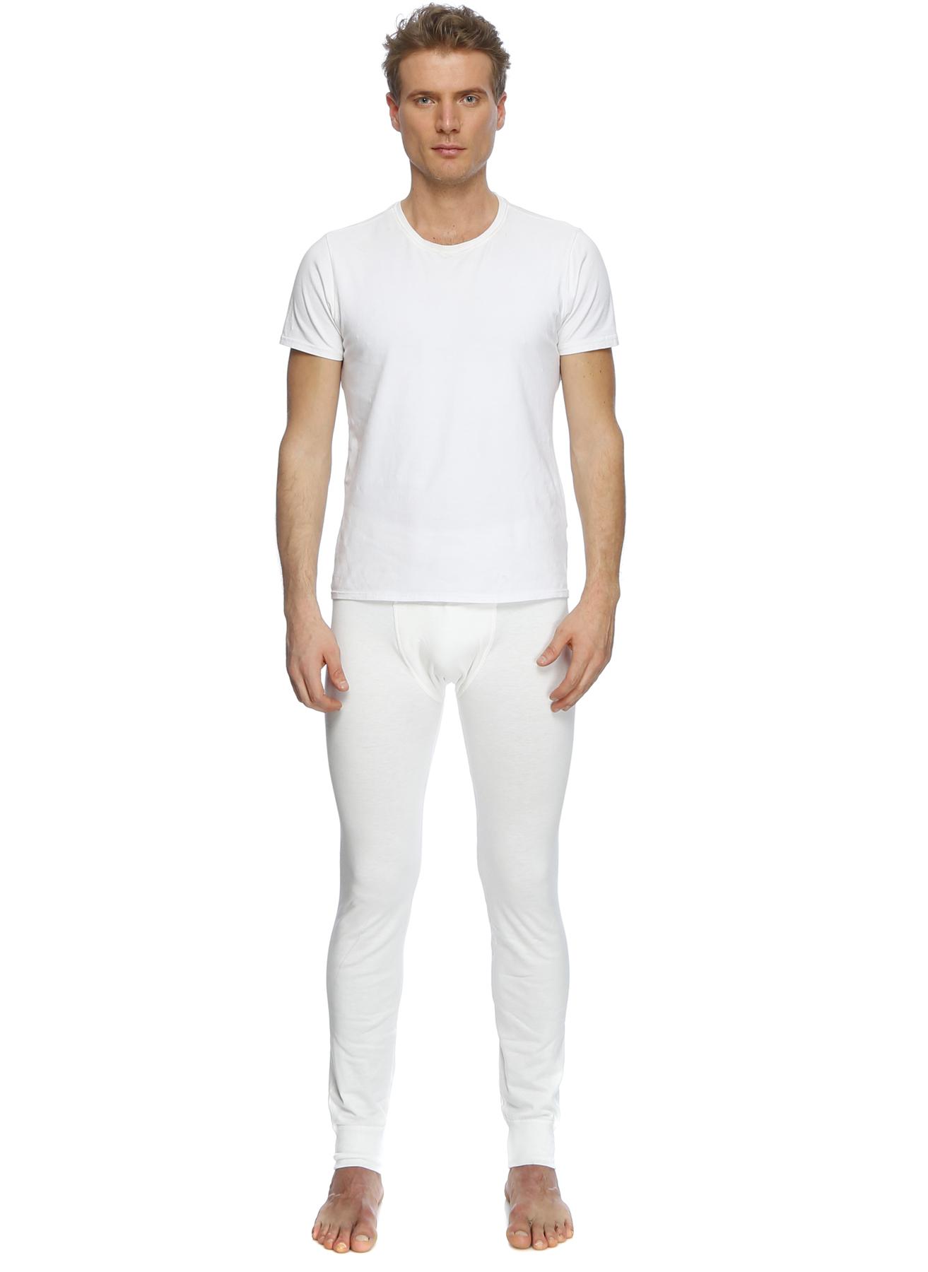 S Koyu Ekru Er_Os Beyaz Klasik Pantolon 5000092647004 Erkek İç Giyim Pijama