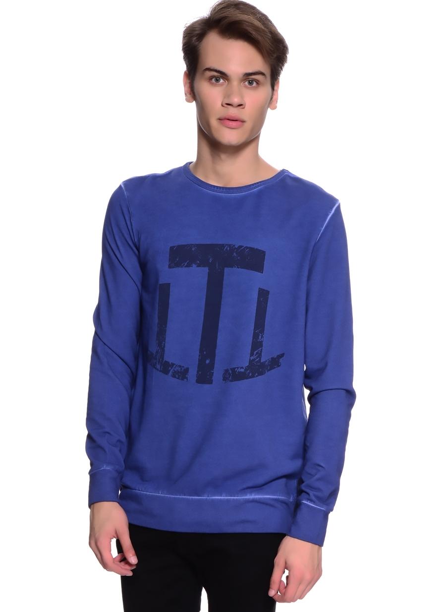 T-Box Baskılı Neon Lacivert Sweatshirt 2XL 5000123633006 Ürün Resmi