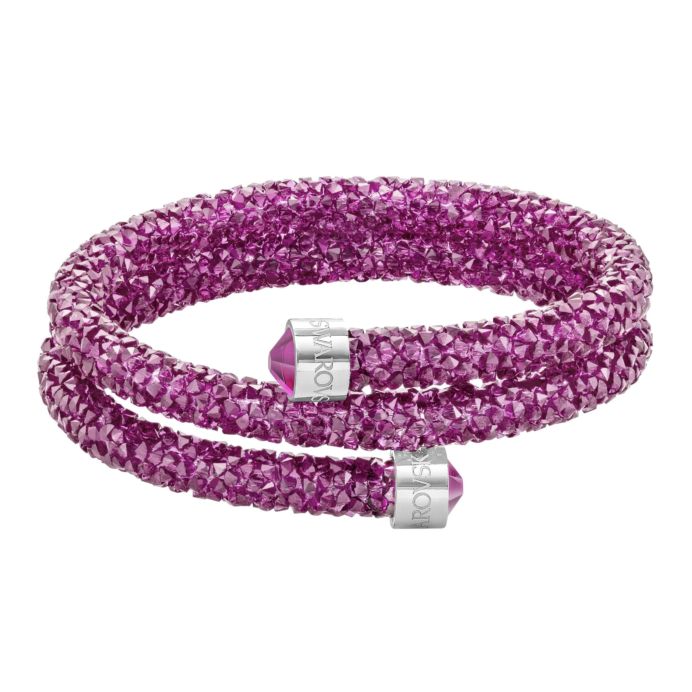 Swarovski Crystaldust İkili Halka Fuşya Paslanmaz Çelik Bileklik 5000145095001 Ürün Resmi