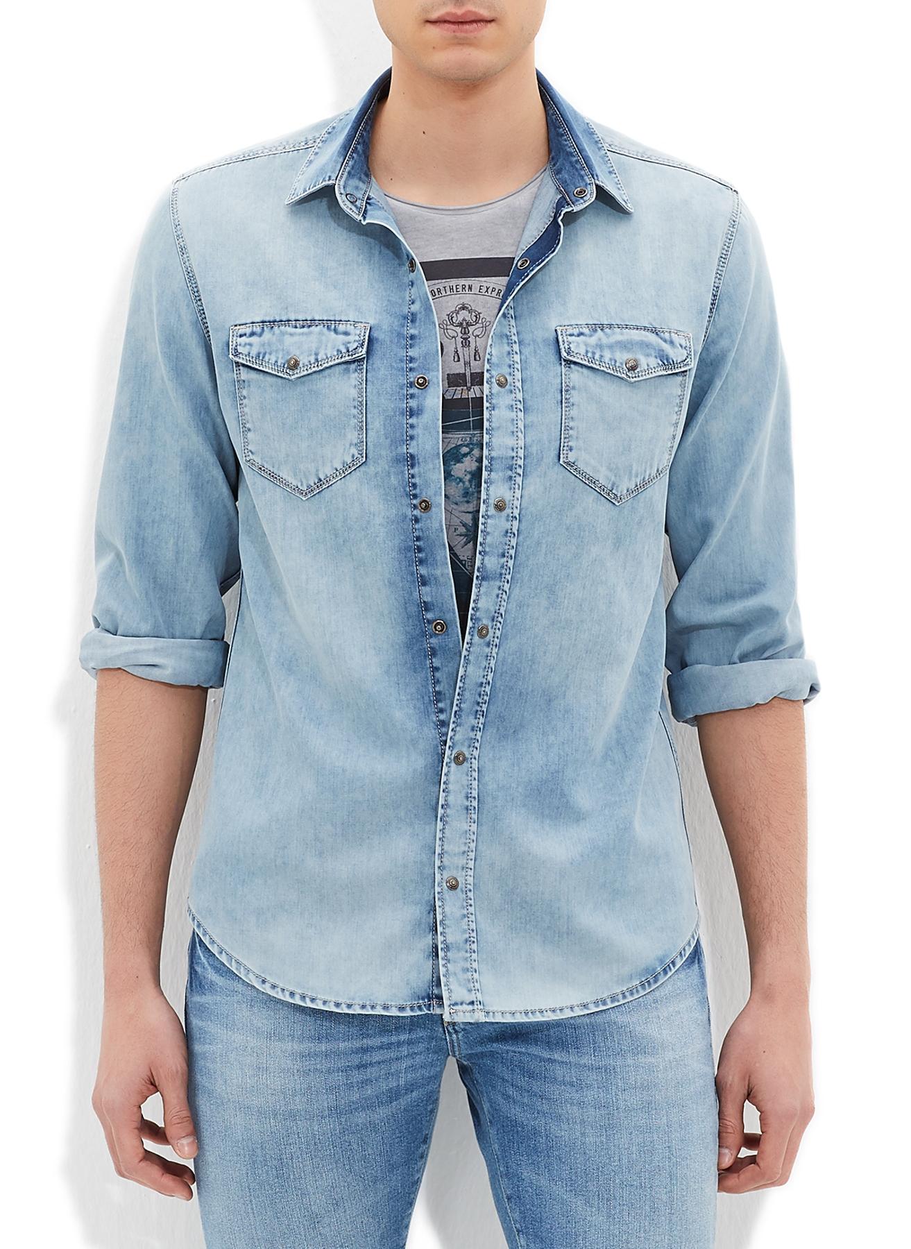 Mavi Çift Cepli Rio Gömlek XL 5000163051005 Ürün Resmi