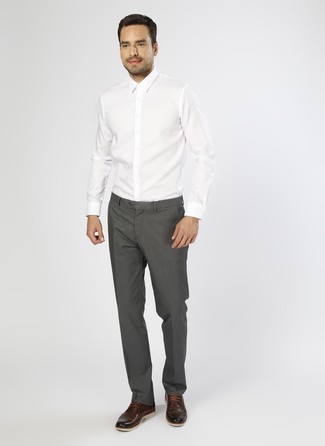 Cotton Bar Kumaş Antrasit Klasik Pantolon 48 5000185814002 Ürün Resmi