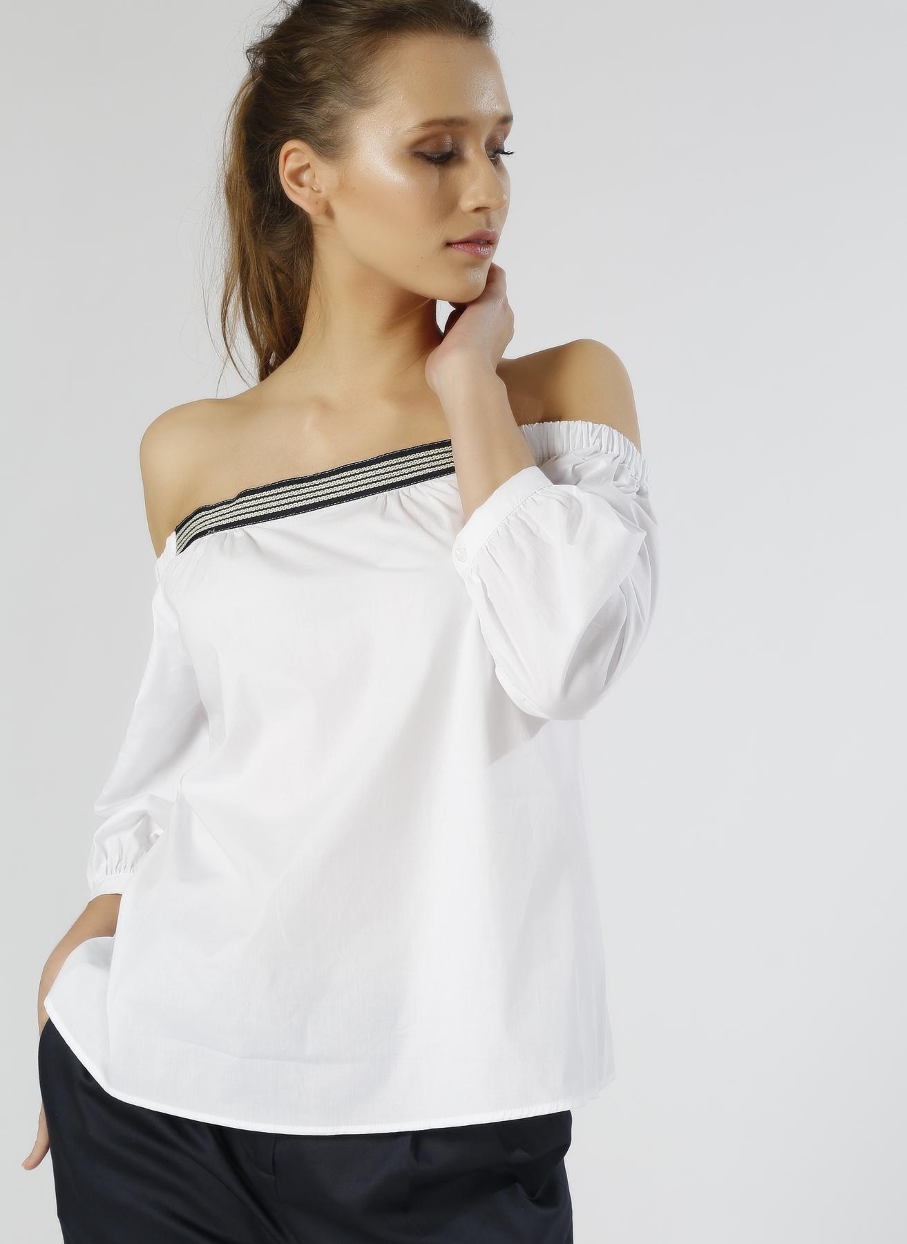 North Of Navy Kayık Yaka Beyaz Bluz 42 5000187527004 Ürün Resmi