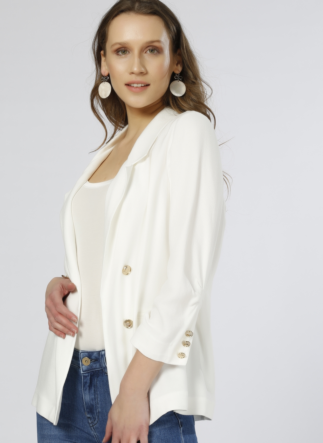 House Of Camellia Beyaz Ceket 44 5000188972005 Ürün Resmi