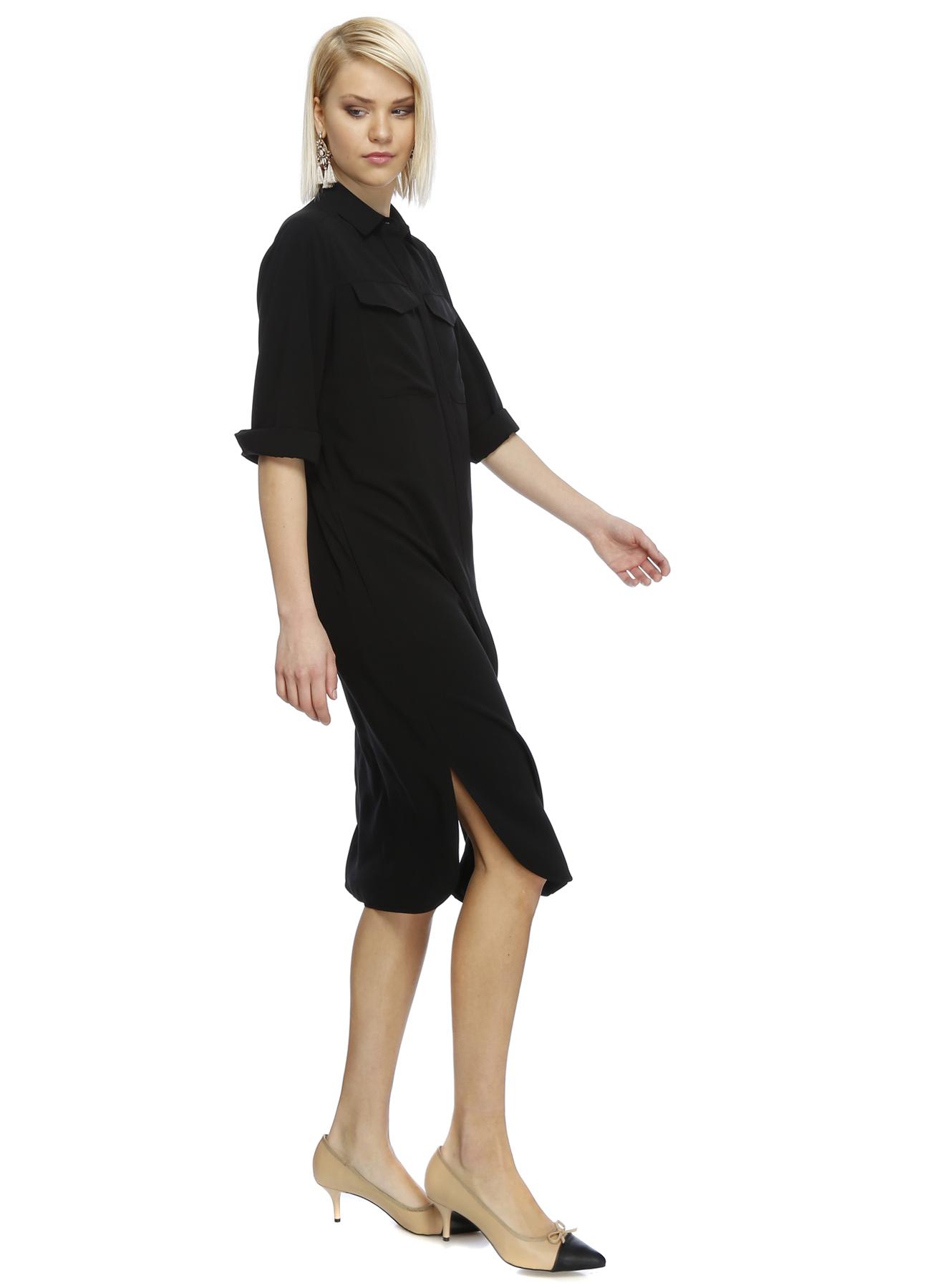 House Of Camellia Siyah Sırt Detaylı Elbise 44 5000188989005 Ürün Resmi