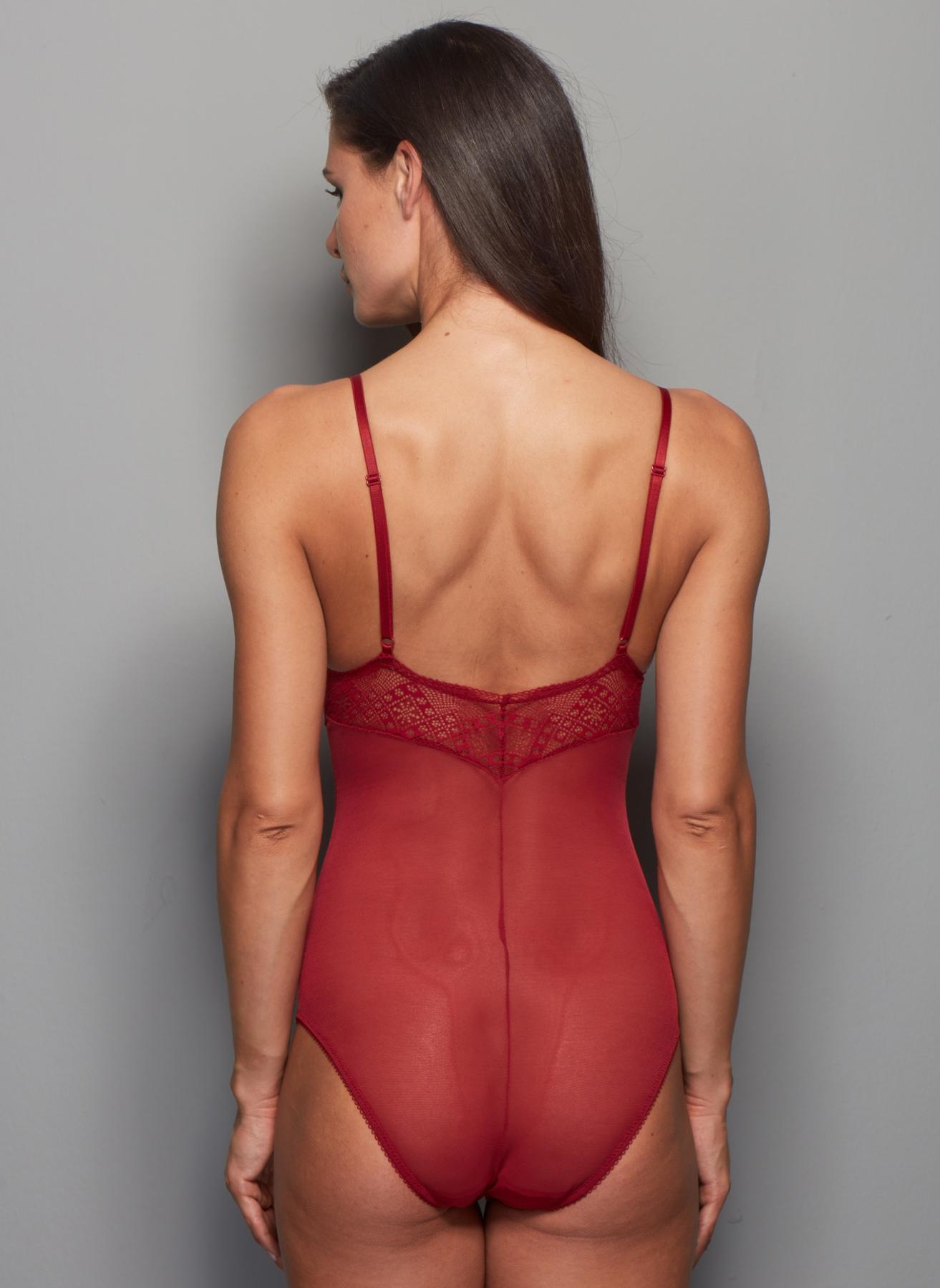 Miss. Claire Dantel Detaylı Bordo Body XL 5000191304004 Ürün Resmi
