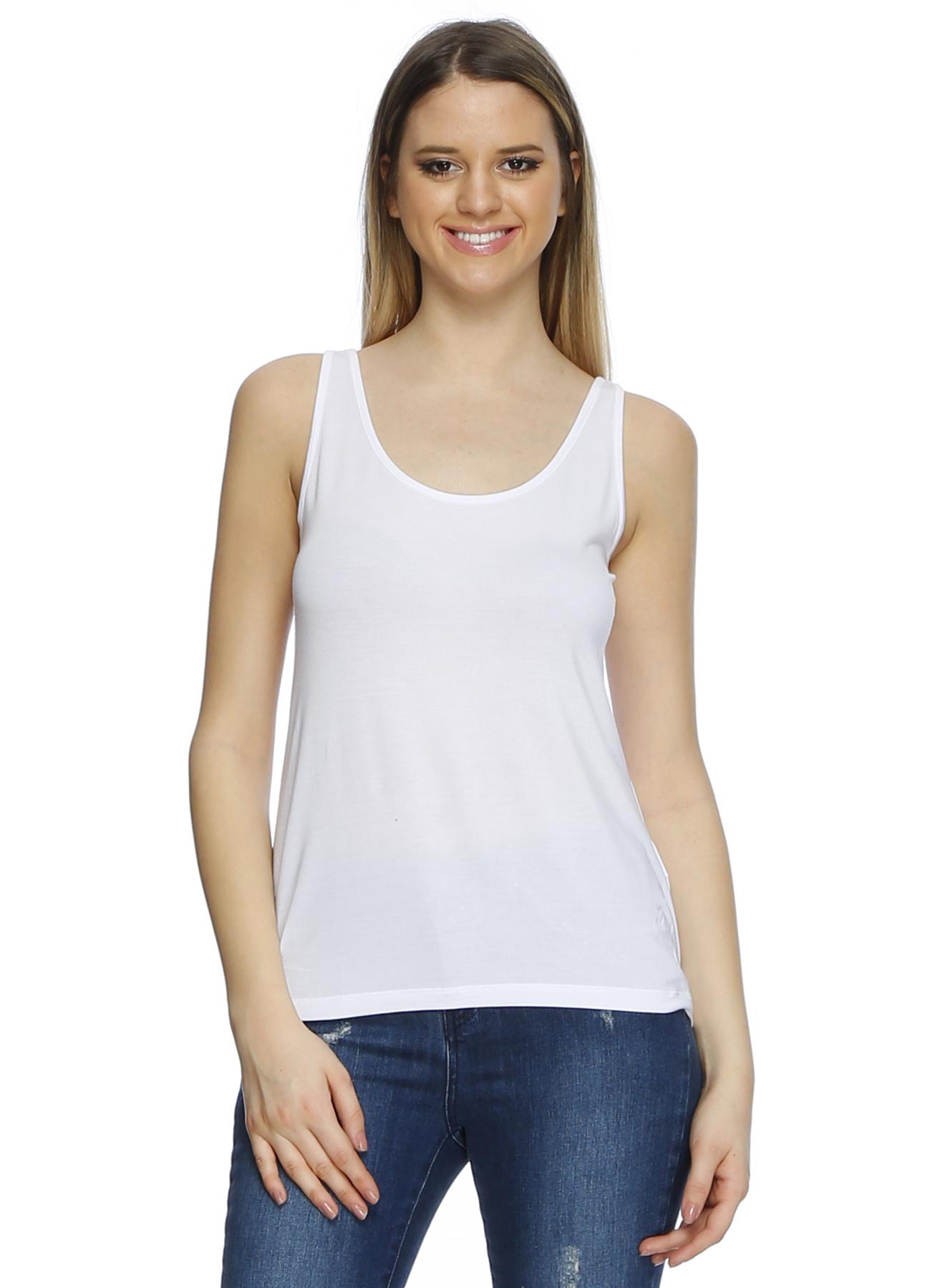 Vero Moda Beyaz Kalın Askılı T-Shirt XS 5000191912005 Ürün Resmi