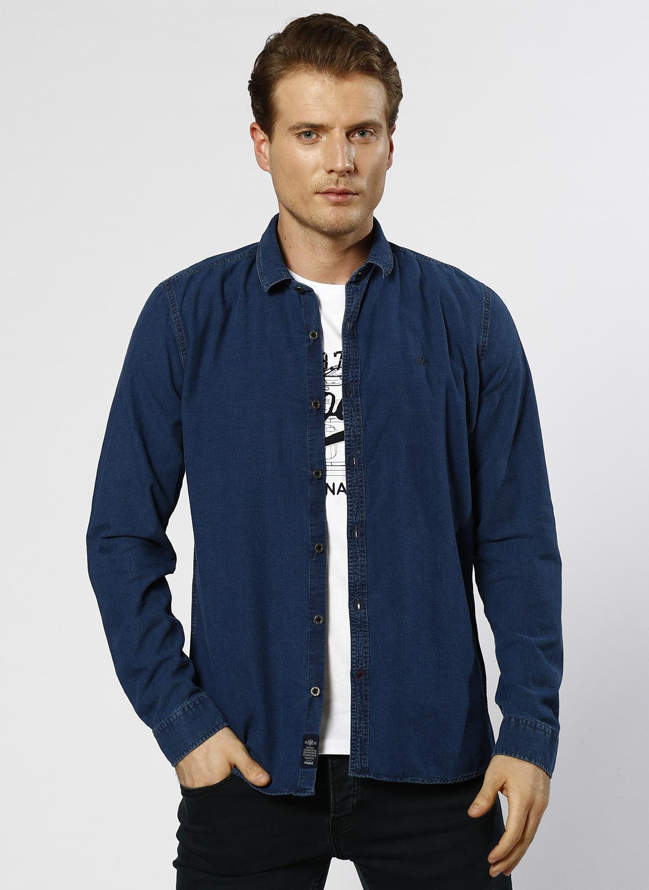 Mavi Cepsiz İndigo Gömlek L 5000193513004 Ürün Resmi