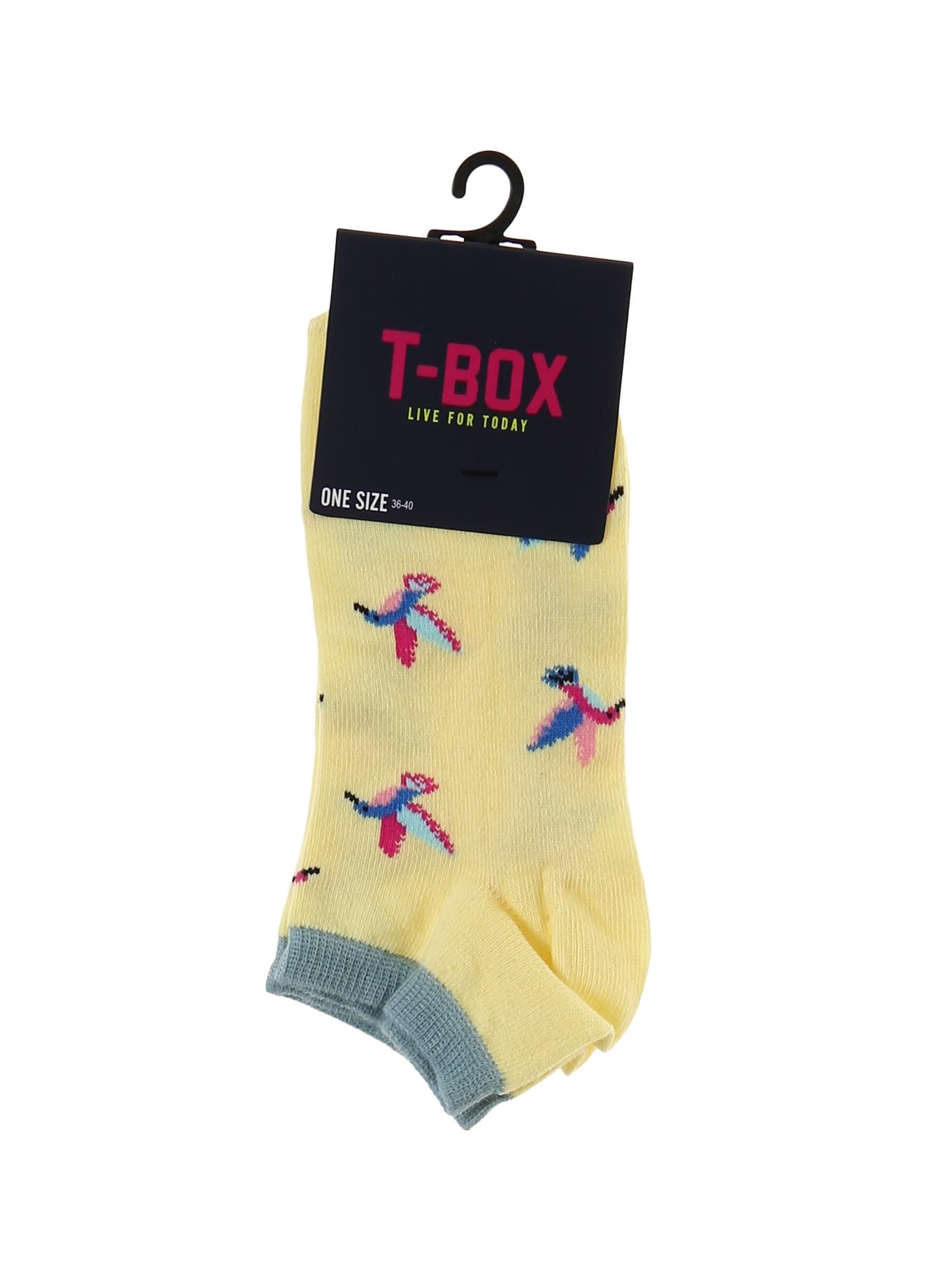 T-Box Kuş Desenli Sarı Soket Soket Çorap 5000194549001 Ürün Resmi