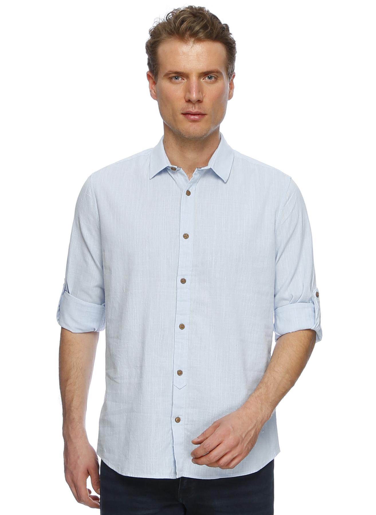 Loft Mavi Keten Gömlek 2XL 5000194673005 Ürün Resmi