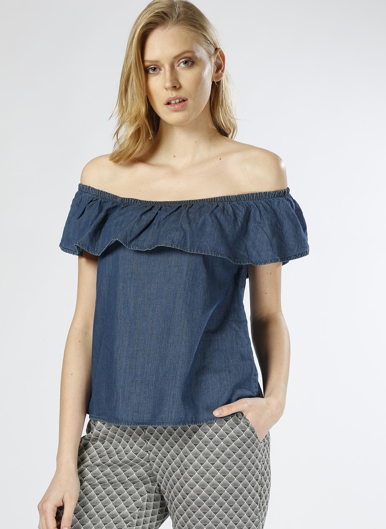 Vero Moda Kayık Yaka Lacivert Bluz XS 5000196037005 Ürün Resmi
