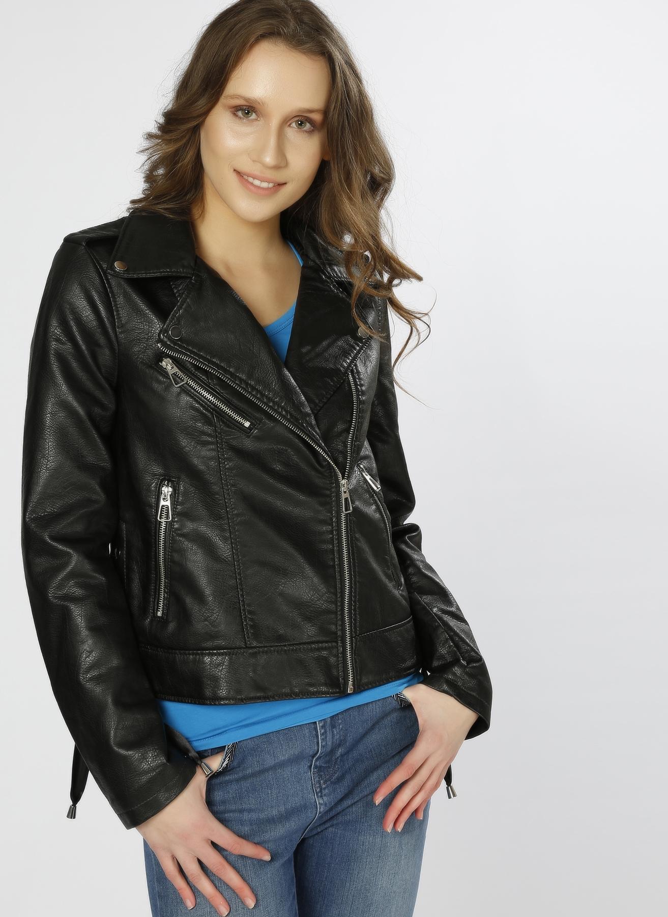 Vero Moda Motorsikletçi Siyah Ceket XL 5000196040004 Ürün Resmi