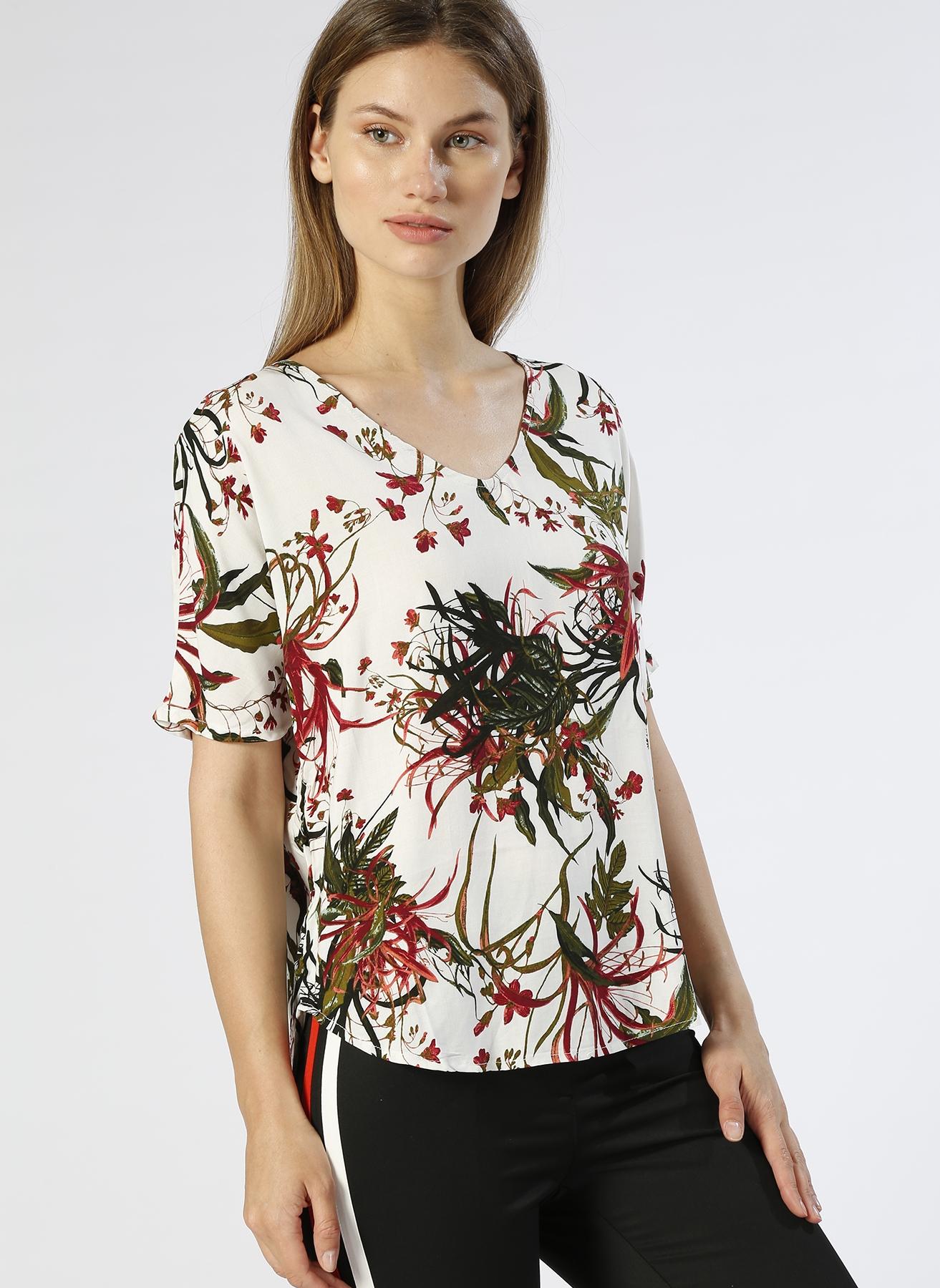 Vero Moda Çiçek Desenli Ekru T-Shırt S 5000196074003 Ürün Resmi