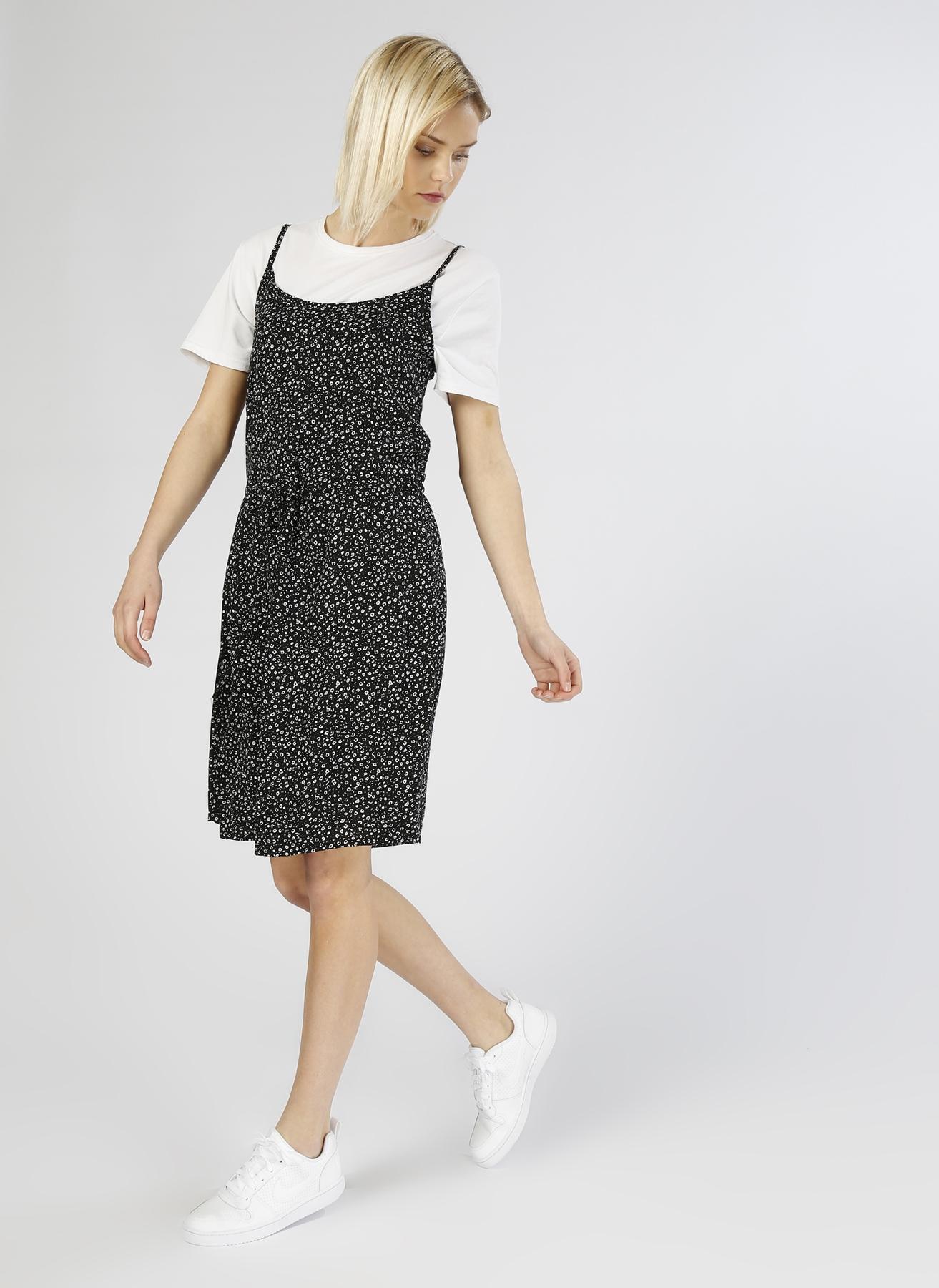 Vero Moda Belden İpli Siyah Elbise S 5000196076003 Ürün Resmi