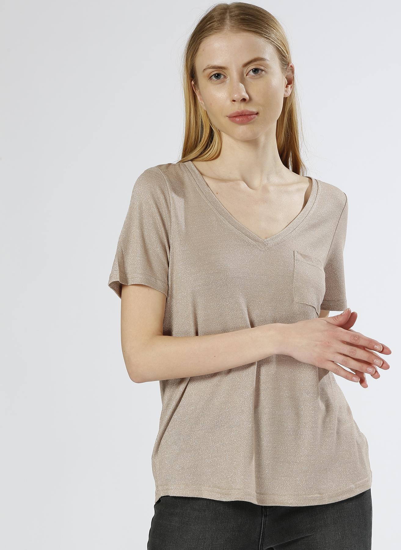 Vero Moda Simli Bej T-Shırt M 5000196087002 Ürün Resmi