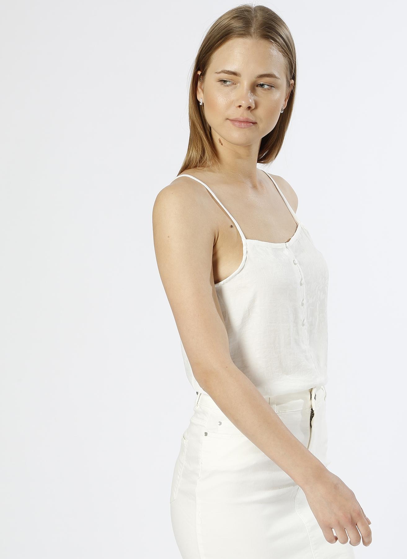 Vero Moda Askılı Desenli Beyaz T-Shirt S 5000196095003 Ürün Resmi