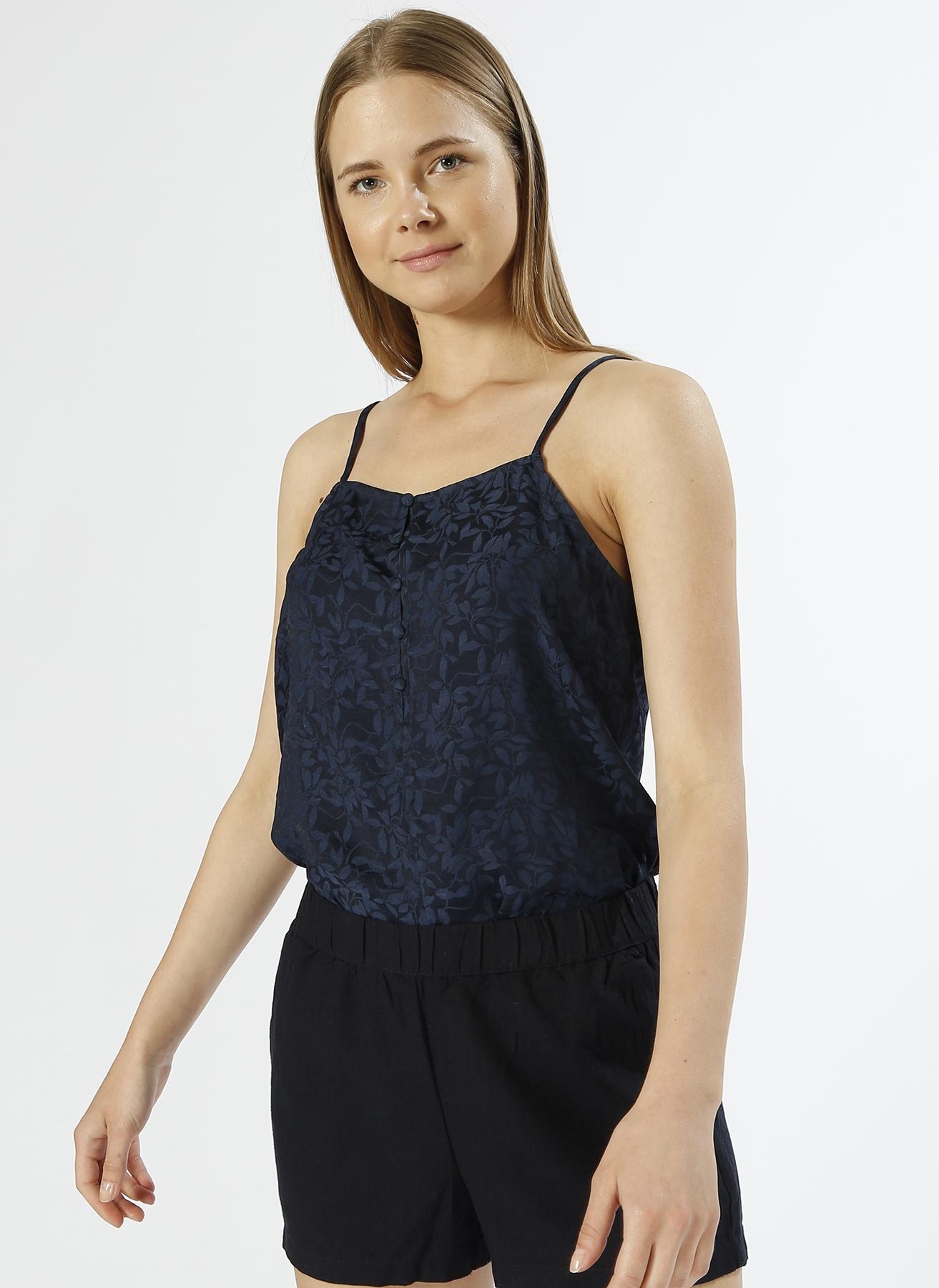 Vero Moda Askılı Desenli Lacivert T-Shirt S 5000196096003 Ürün Resmi
