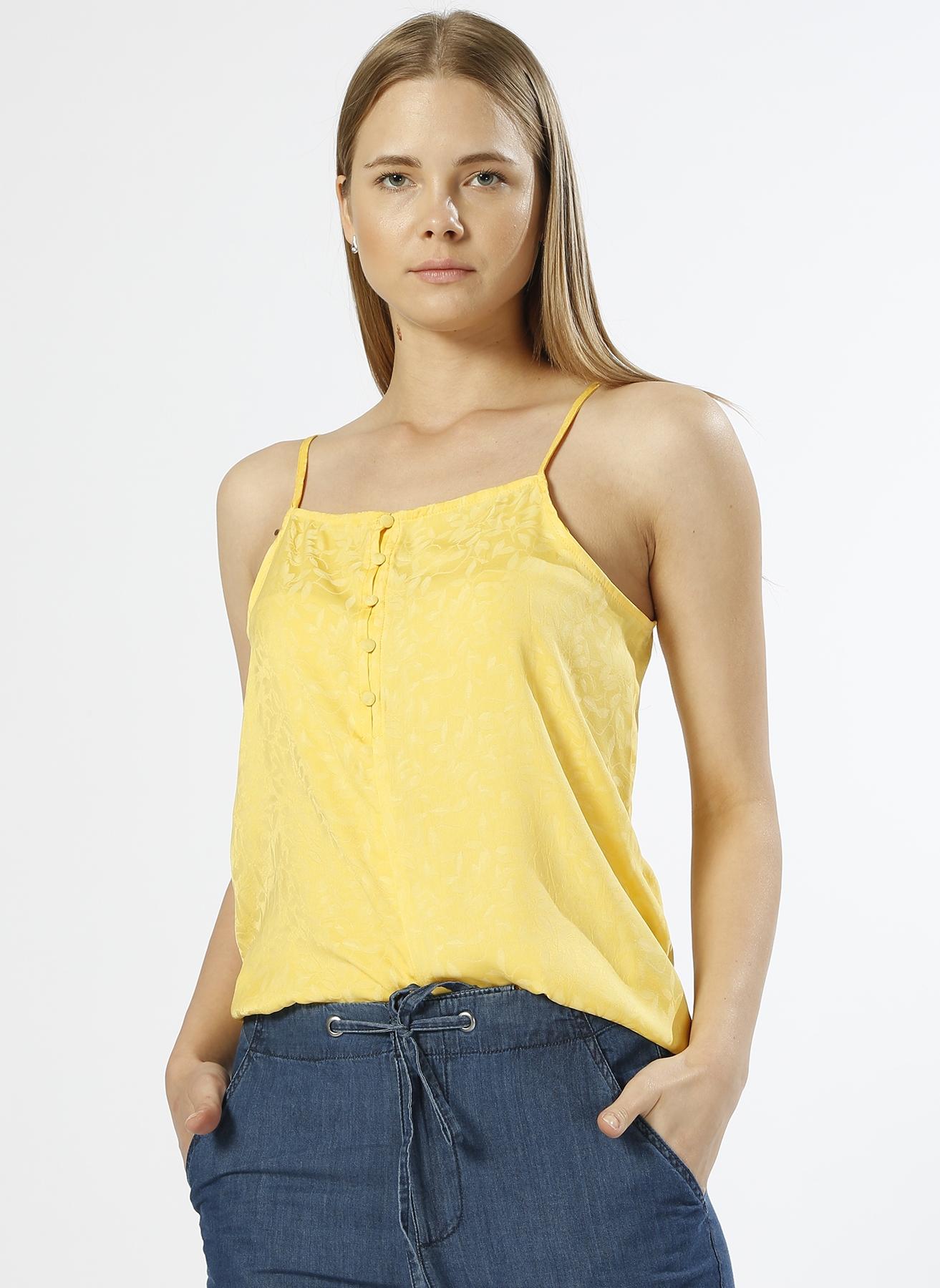Vero Moda Askılı Desenli Sarı T-Shırt M 5000196097002 Ürün Resmi