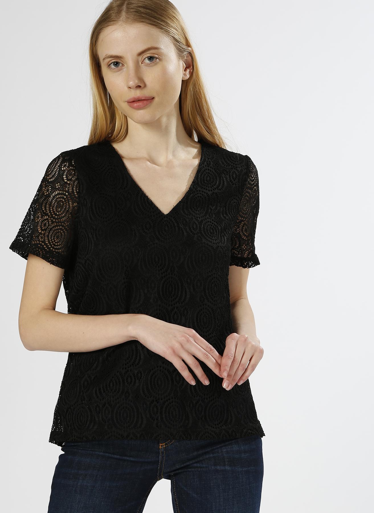 Vero Moda Dantelli Siyah T-Shırt XS 5000196131004 Ürün Resmi