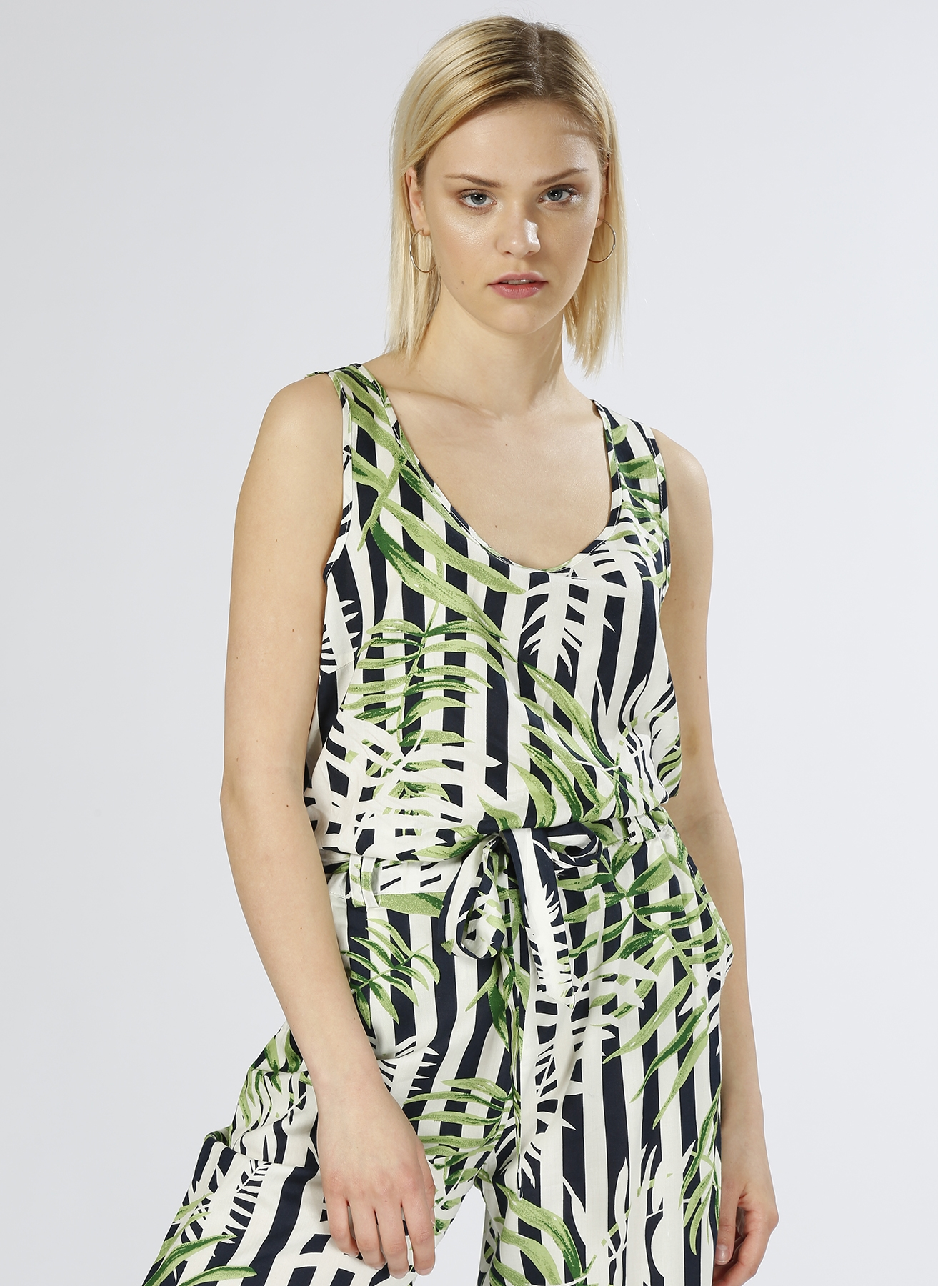 Only Yaprak Desenli Yeşil T-Shirt 36 5000196801002 Ürün Resmi