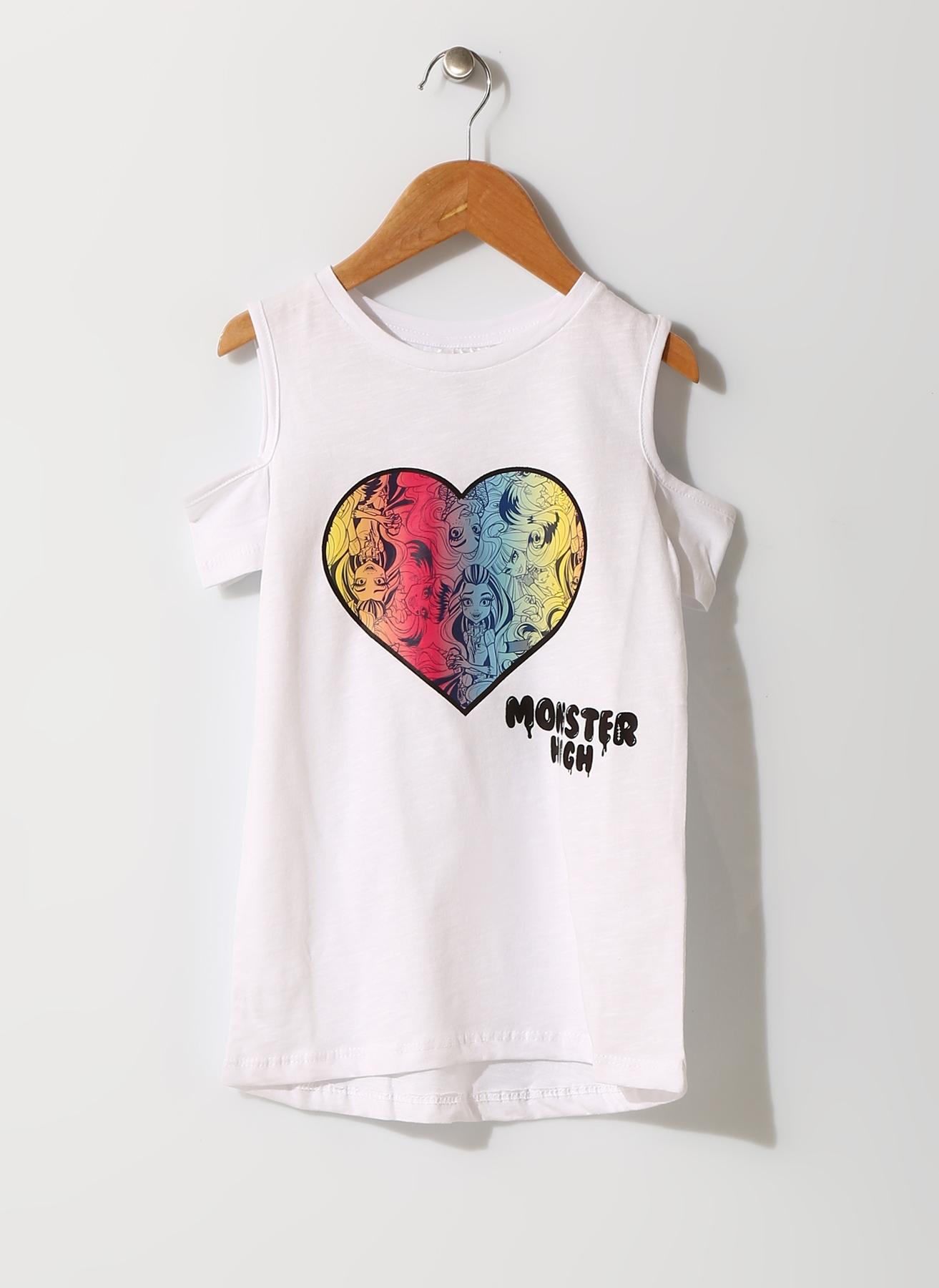 Monster High Kız Çocuk Beyaz T-Shirt 6 Yaş 692968