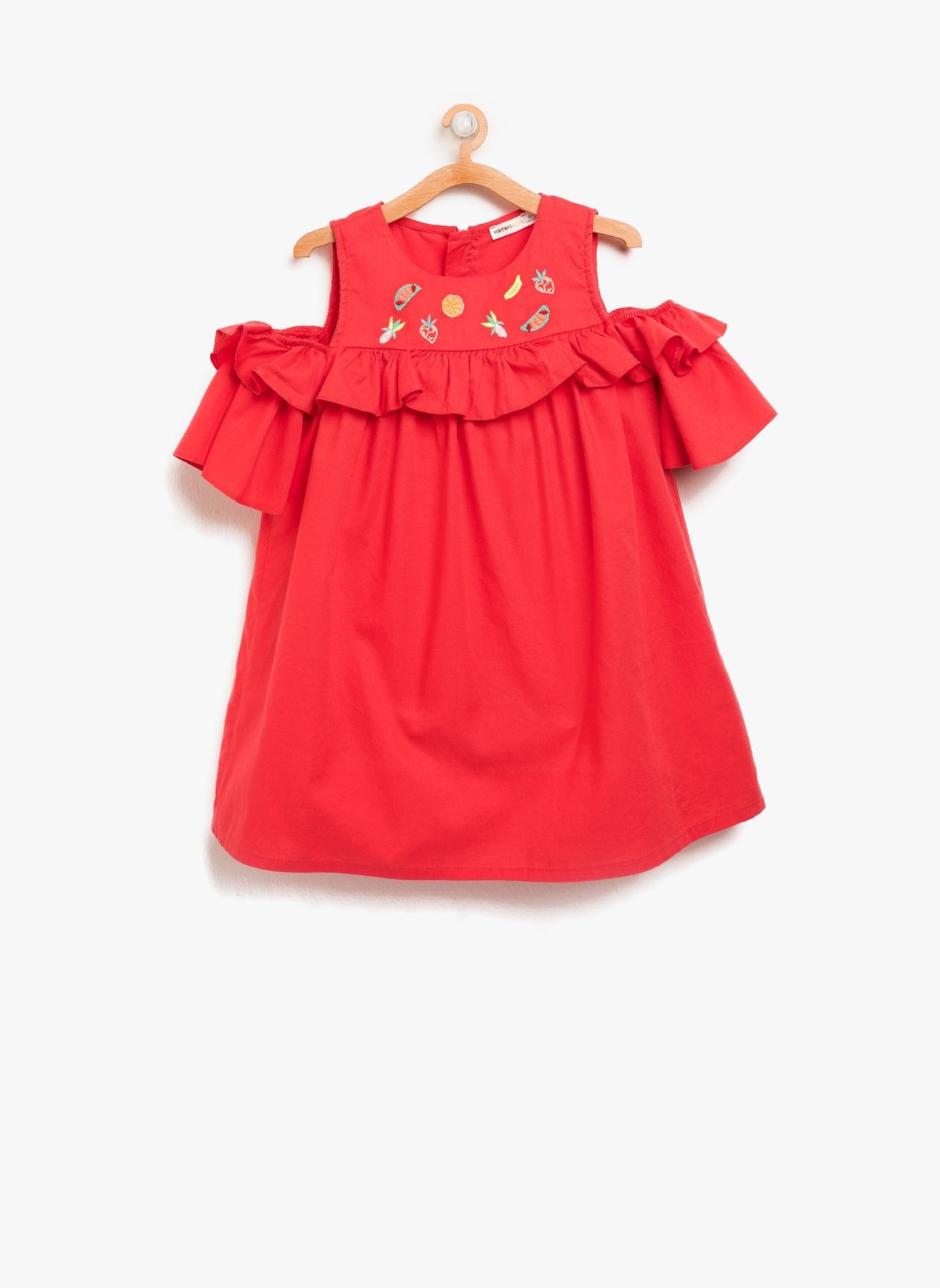 9eacc65aebcbf 7 Yaş Kadın Mercan Koton Elbise 5000198116006 Çocuk Giyim & Tunik