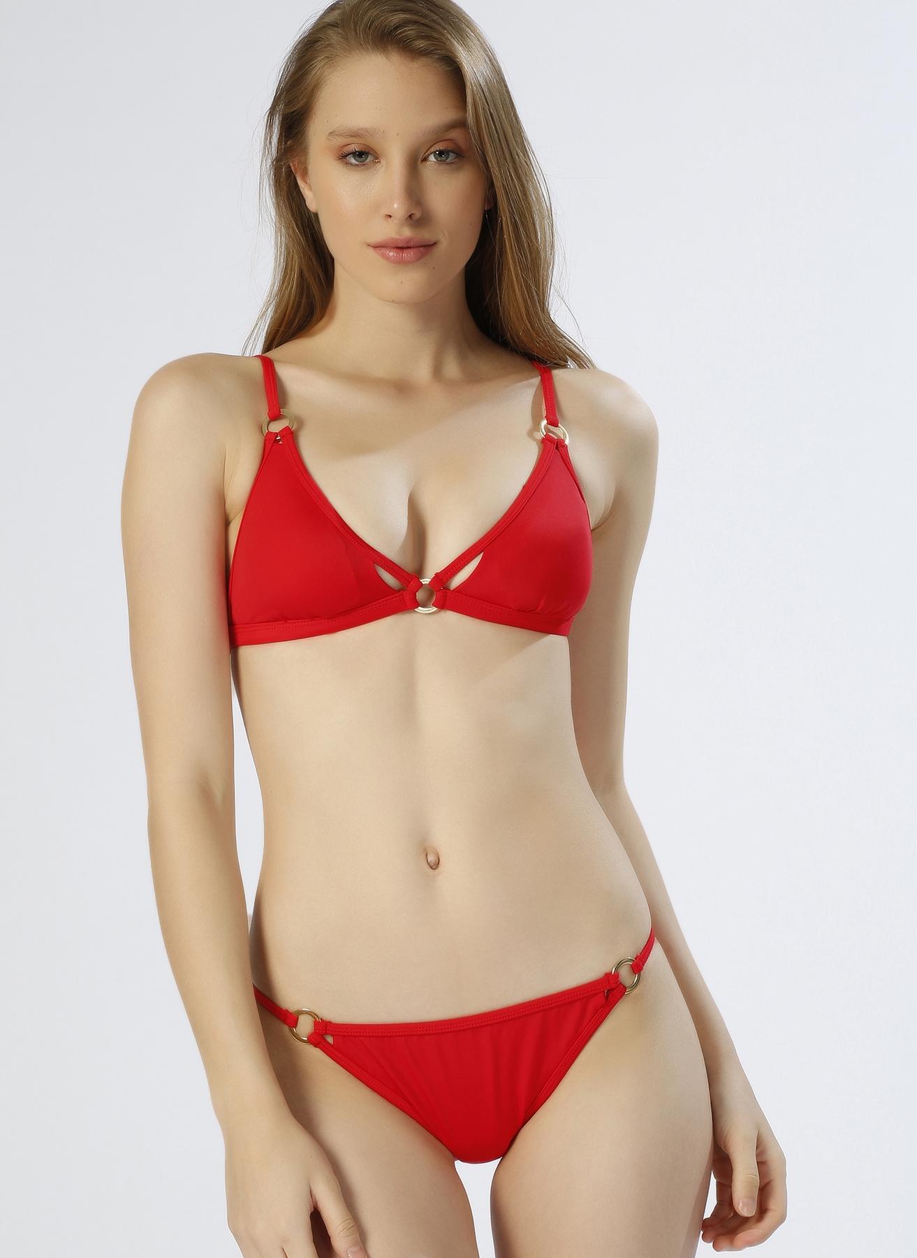 Koton Üçgen Kırmızı Bikini Üst 38 5000198472003 Ürün Resmi