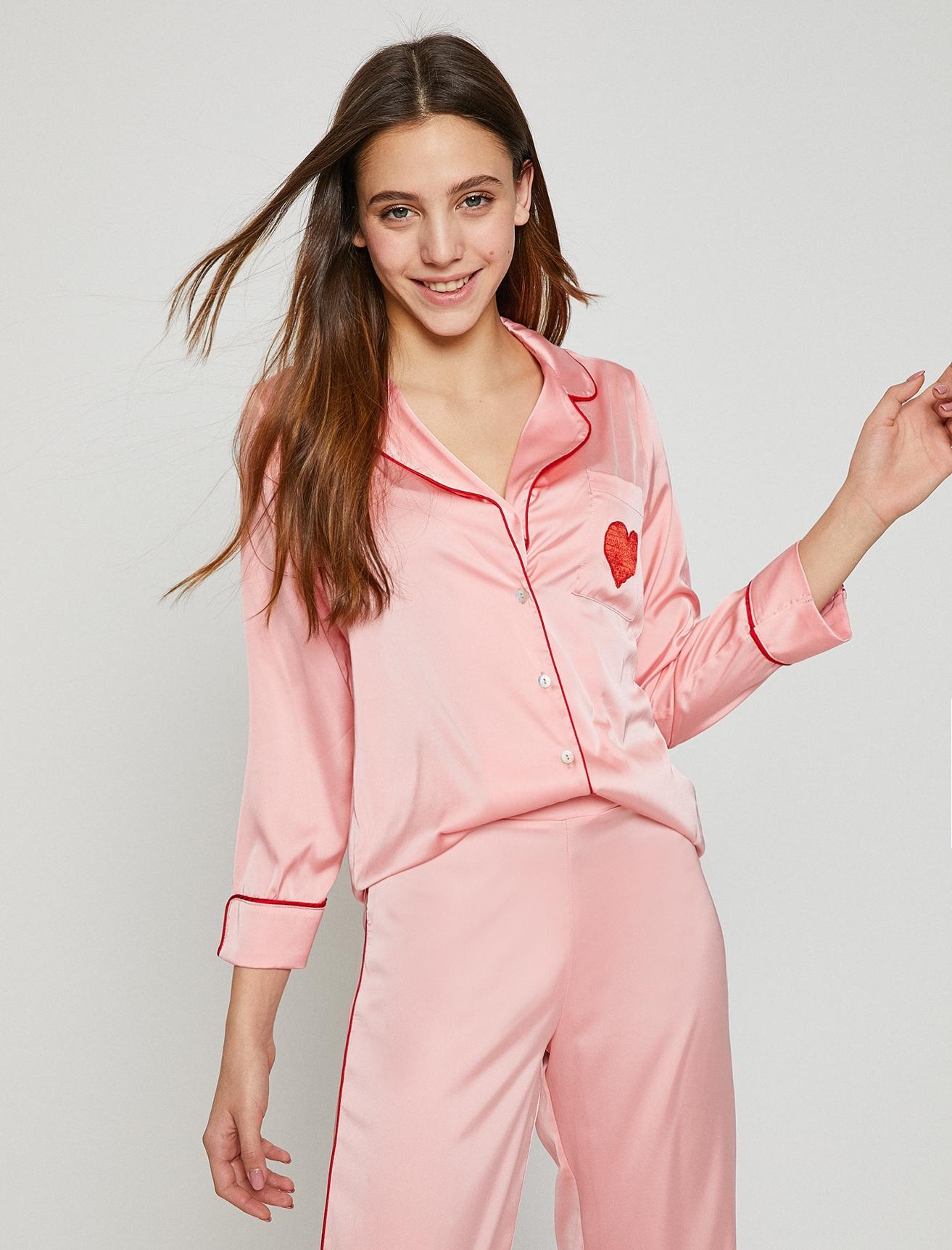 Koton Saten Pembe Pijama Üst 42 5000198597005 Ürün Resmi