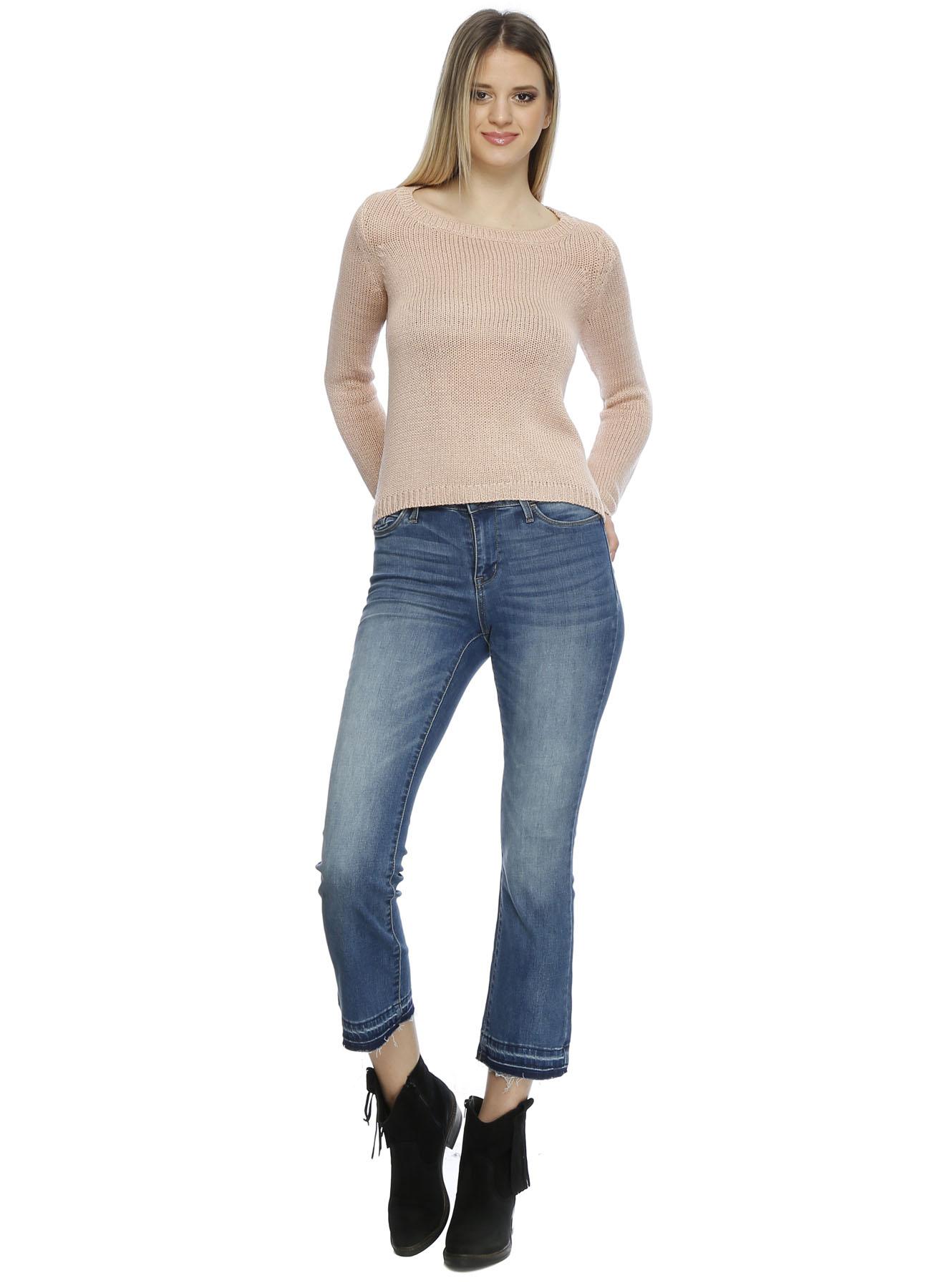 Vero Moda Paça Detaylı Denim Pantolon 28-30 5000199129005 Ürün Resmi