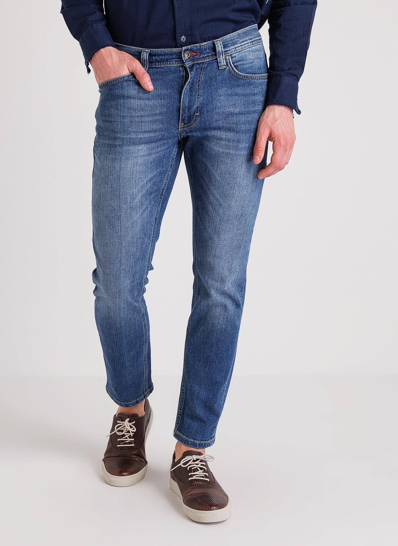 Mustang Slim Rise Mavi Klasik Pantolon 32-34 5000200016007 Ürün Resmi