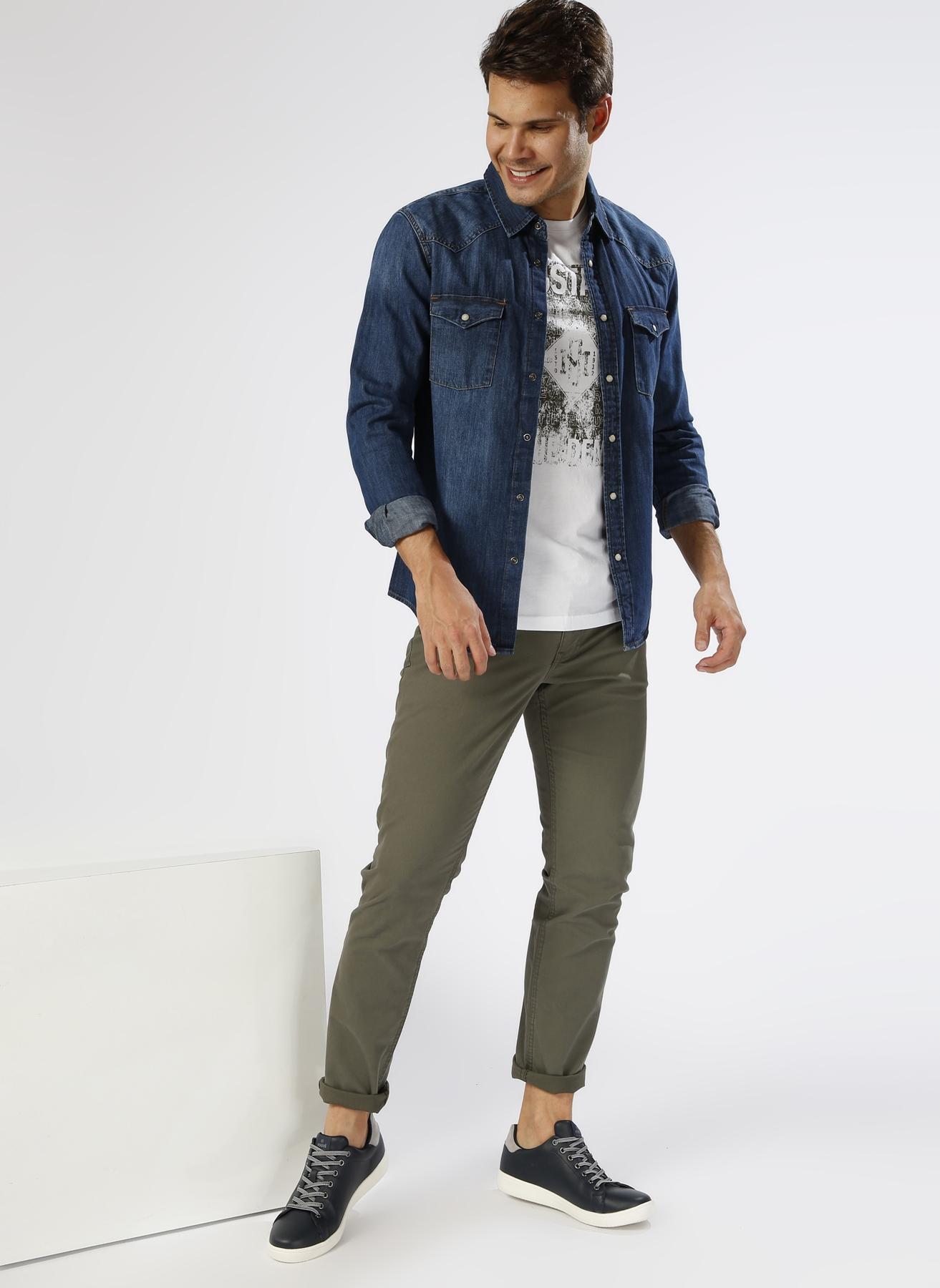 Lee Cooper Mavi Gömlek M 5000200370002 Ürün Resmi