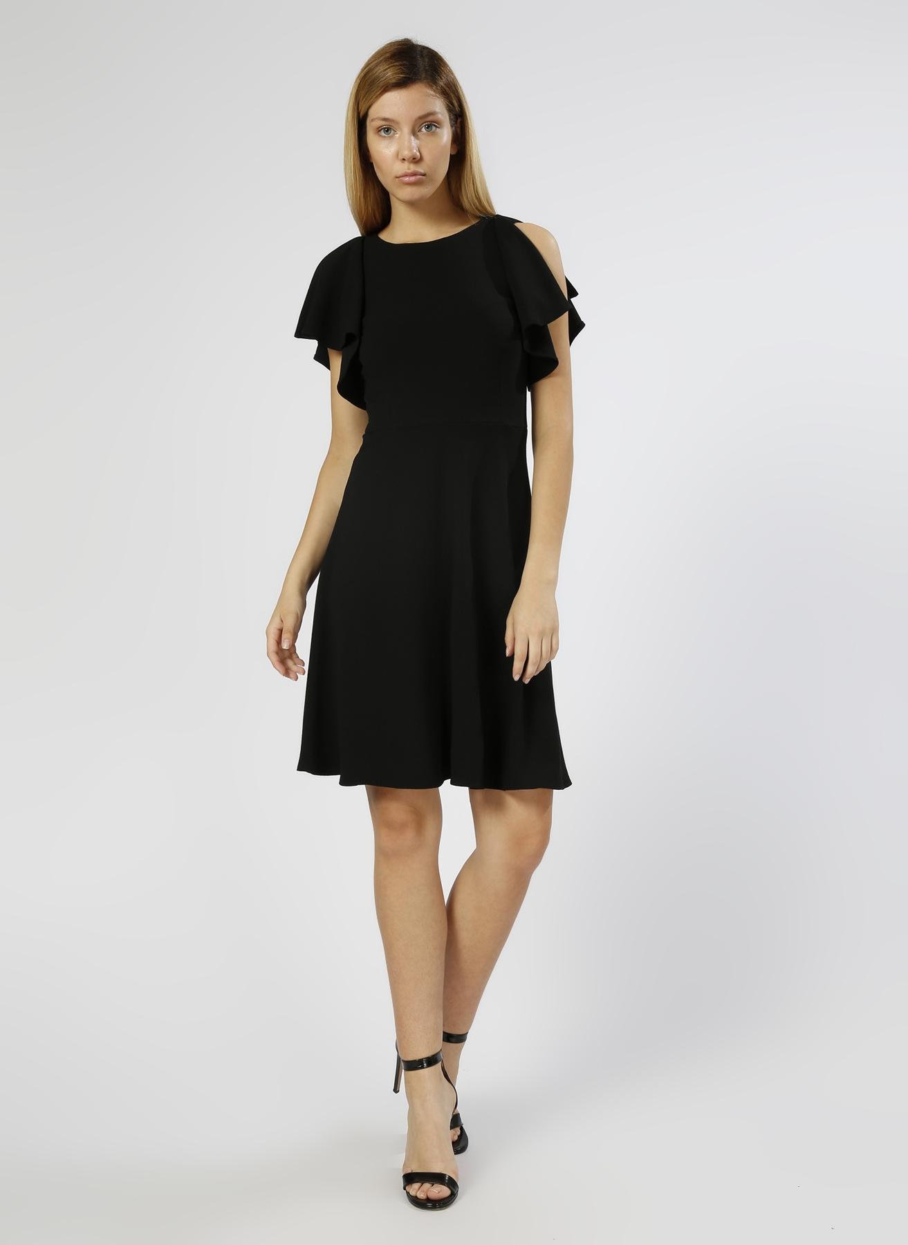 Random Kol Detaylı Siyah Elbise 34 5000205452001 Ürün Resmi