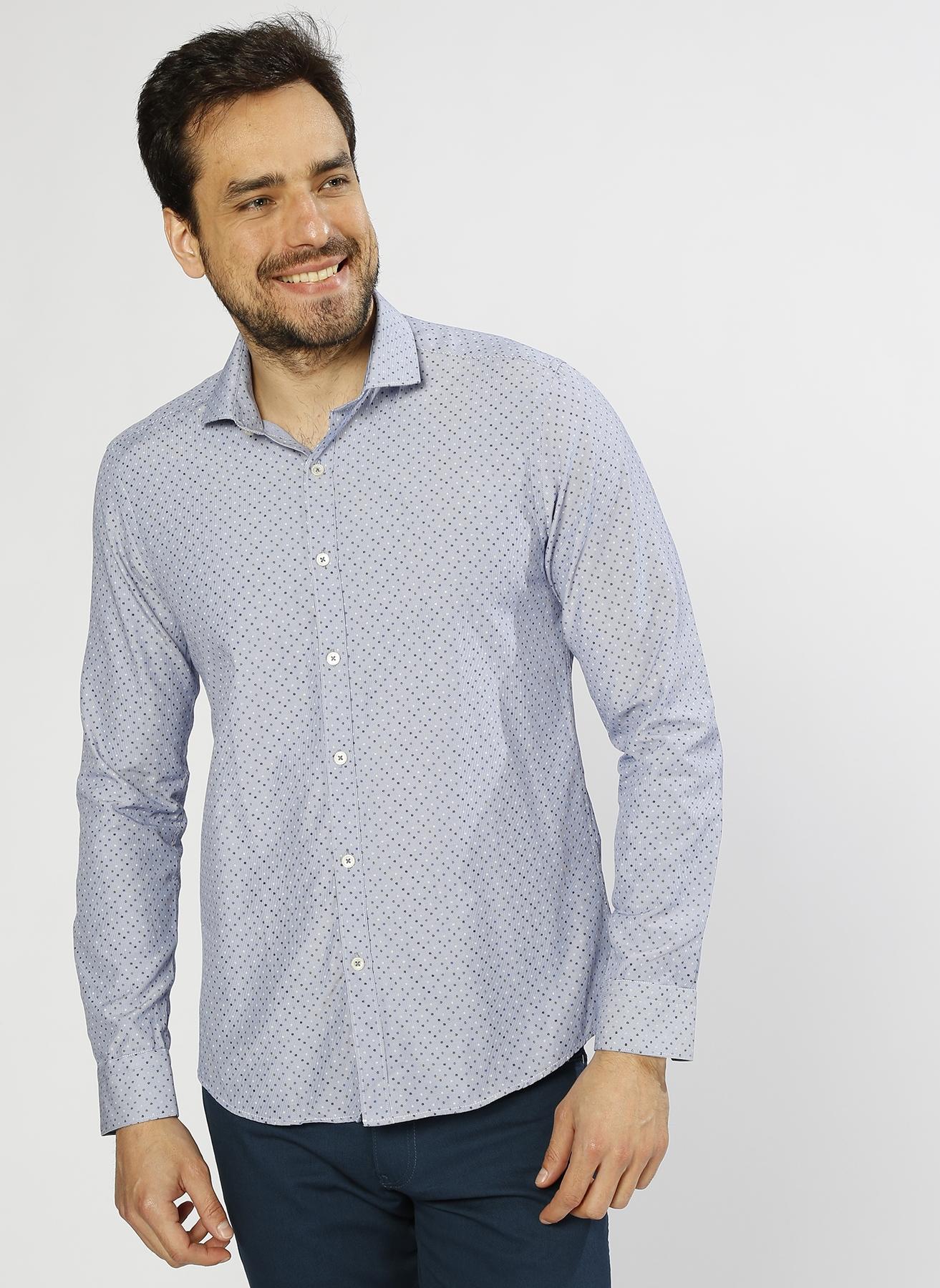Altinyildiz Classic Desenli Mavi Gömlek XL 5000208422004 Ürün Resmi