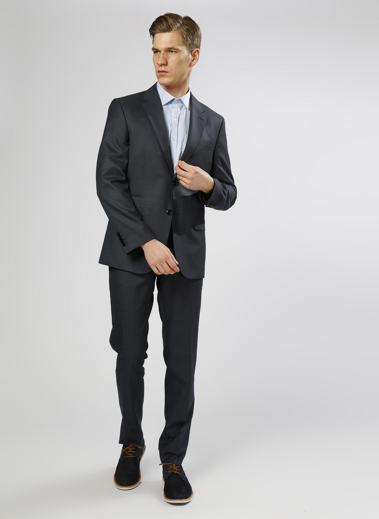 George Hogg Desenli Yün Lacivert Takım Elbise 50-6 5000211237002 Ürün Resmi