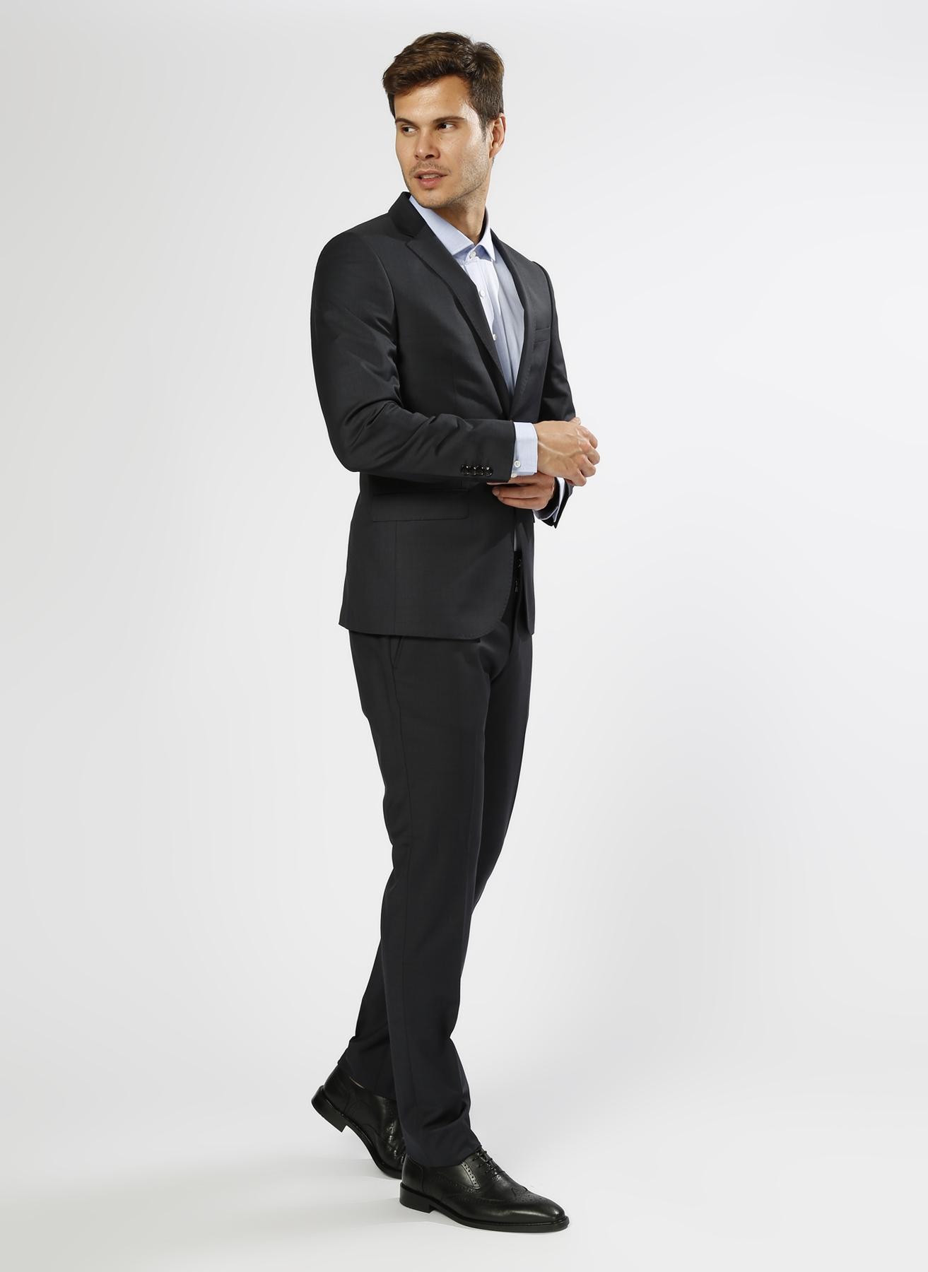 George Hogg Desenli Lacivert Takım Elbise 58-6 5000211245007 Ürün Resmi