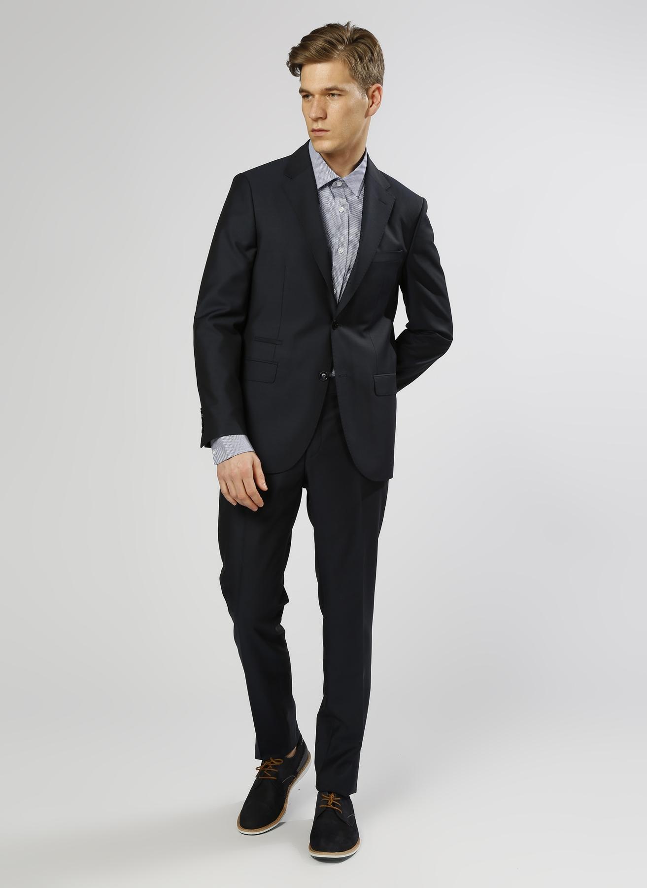George Hogg Yün Lacivert Takım Elbise 56-6 5000211247005 Ürün Resmi