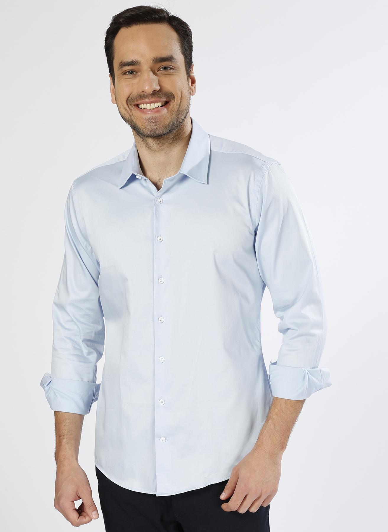 George Hogg Modern Fit Mavi Gömlek 40 5000212736001 Ürün Resmi