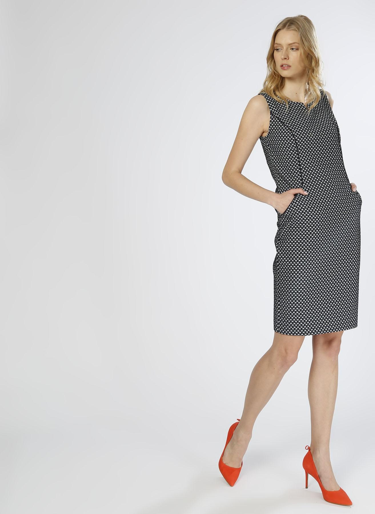 ba3ebacc8e7dc 44 Çok Renkli Naramaxx Kelebek Desenli Lacivert Elbise 5000216990005 Kadın  Giyim