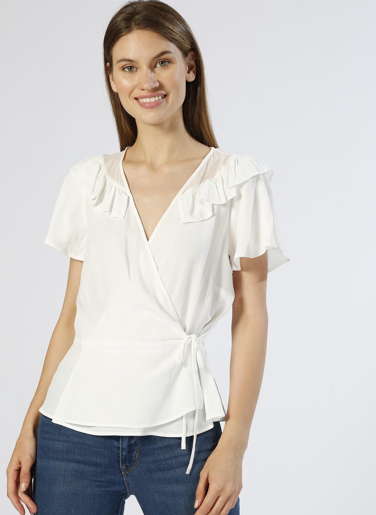 Random Kruvaze Beyaz Bluz 42 5000225482005 Ürün Resmi