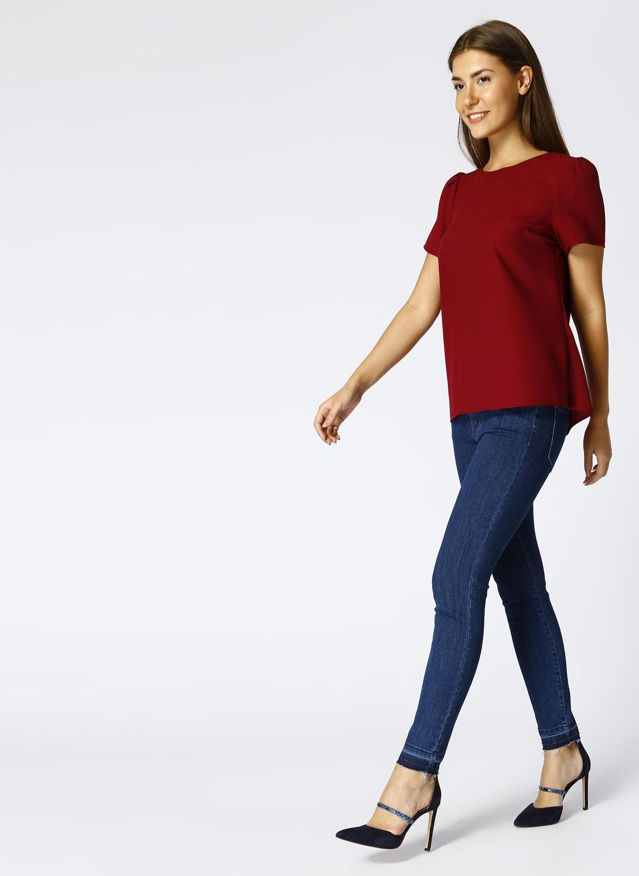 Beymen Club Paça Detaylı Mavi Denim Pantolon 28-32 5000389203001 Ürün Resmi